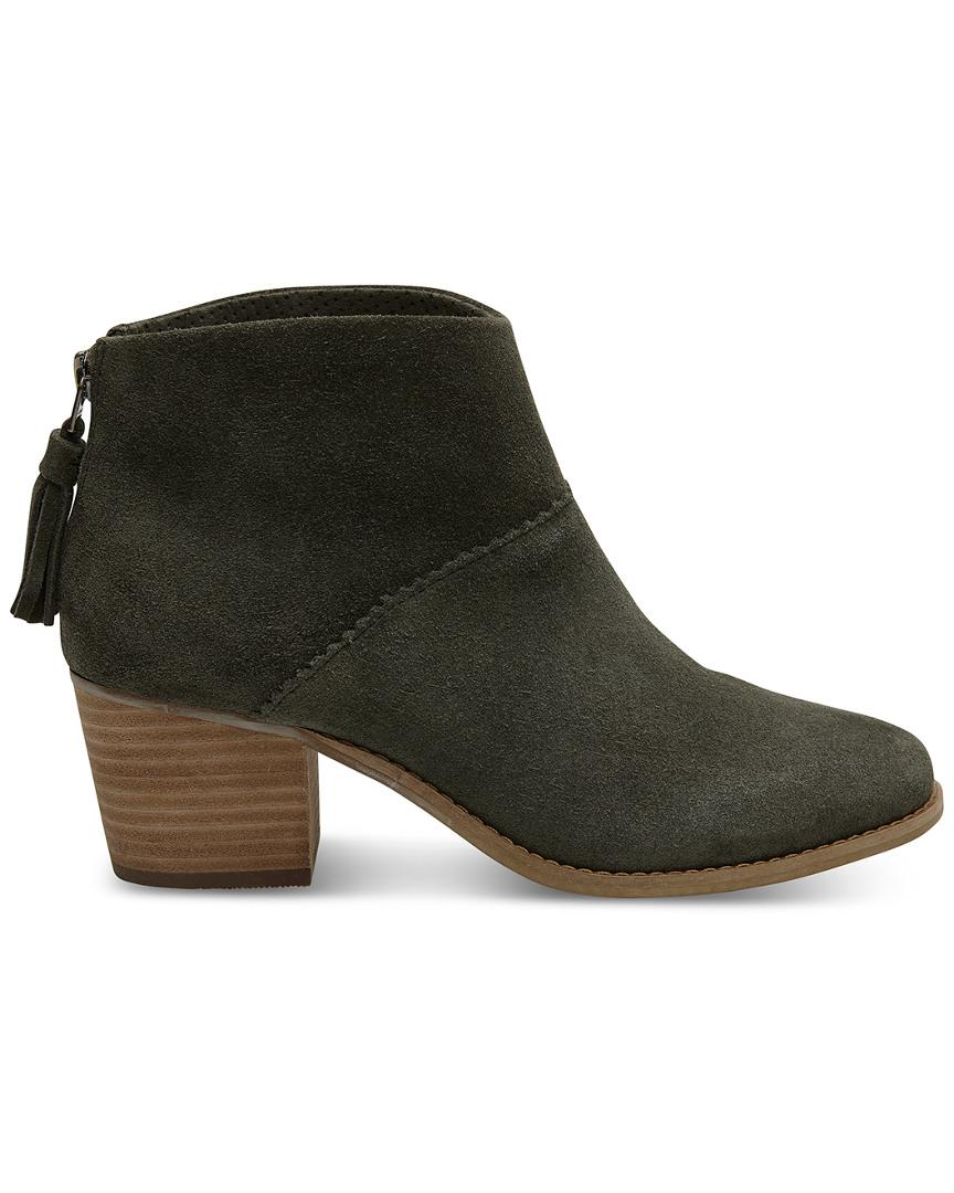 c6559c8f27e TOMS Leila Forest Suede Womens Bootie - Save 56% - Lyst