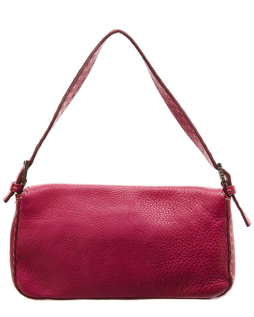 65e48e1edf Lyst - Fendi Pink Selleria Leather Shoulder Bag in Pink