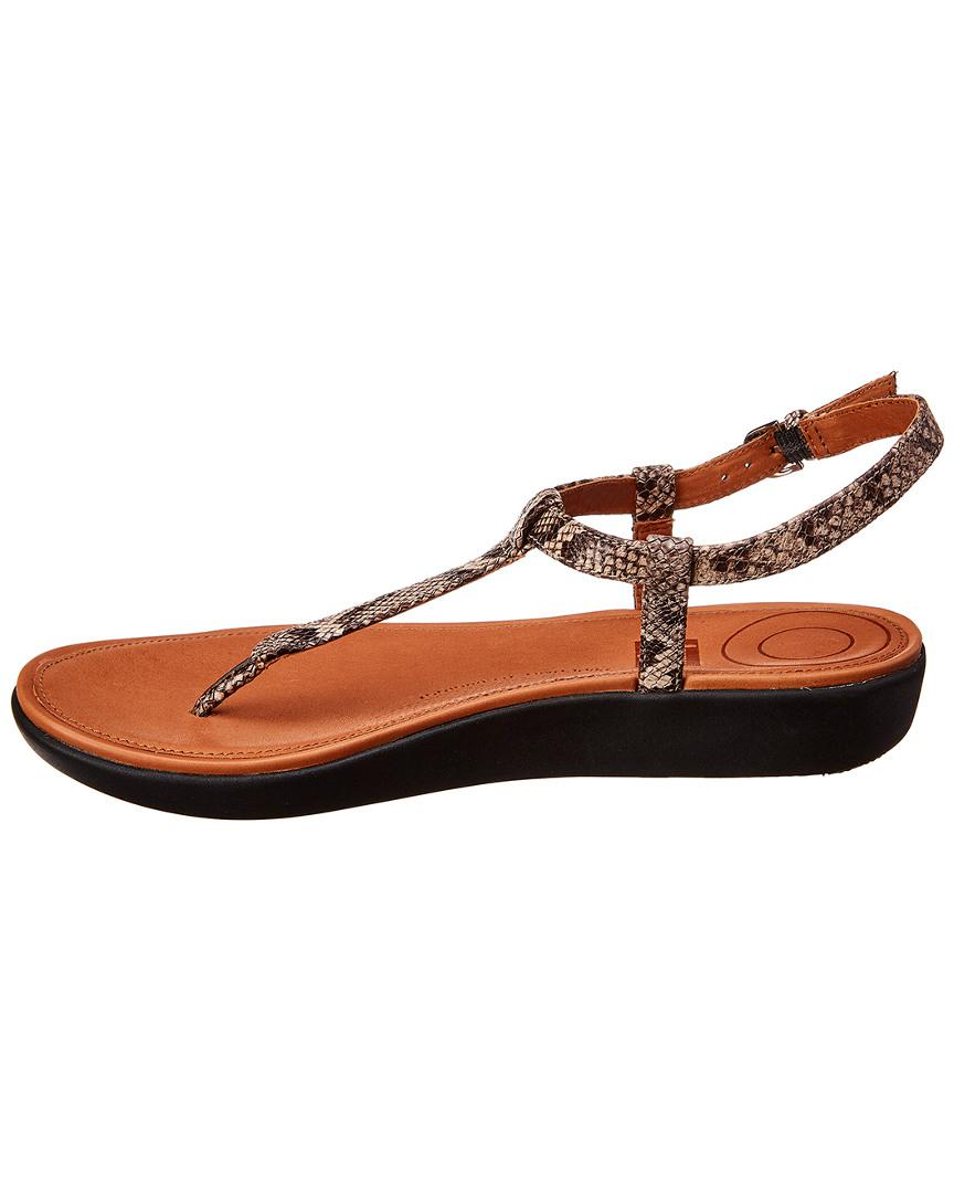 ade7cecd6718 Lyst - Fitflop Leather Thong Sandals in Brown