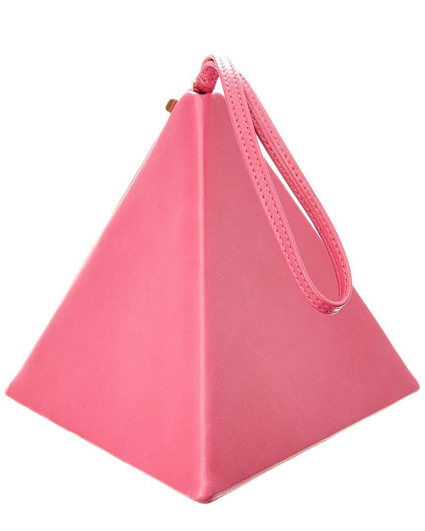 b565e1f4c9 Saint Laurent Pyramid Box Leather Clutch in Pink - Lyst