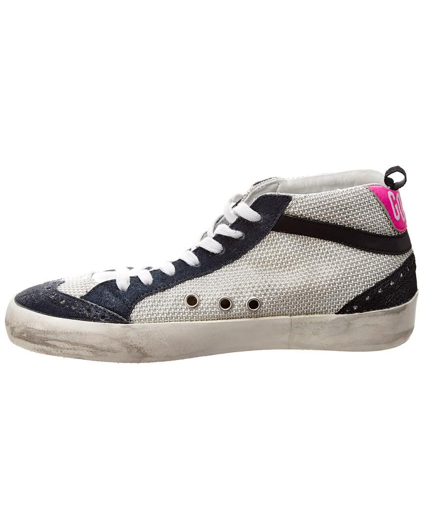 f576ce45d7e3 Lyst - Golden Goose Deluxe Brand Mid Star Leather   Suede Sneaker in Gray