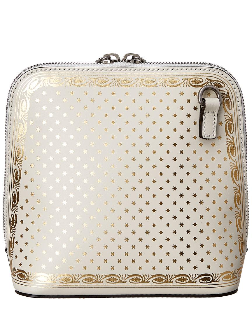 d2446d6b85b Lyst - Gucci Guccy Mini Leather Shoulder Bag in White
