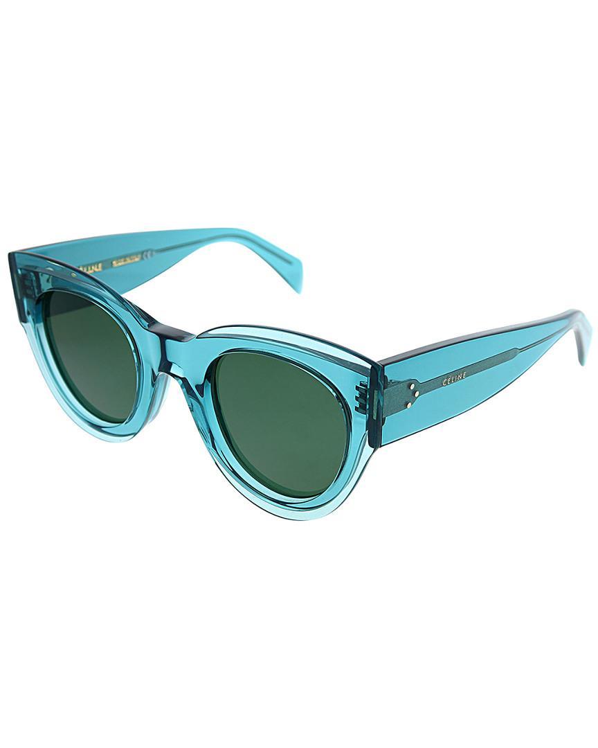 5d3b88bc1be7 Lyst - Céline Cat-eye 48mm Sunglasses in Blue - Save 24%