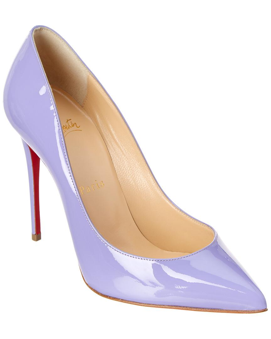 b432f27d96f Lyst - Christian Louboutin Pigalle Follies 100 Patent Pump in Purple