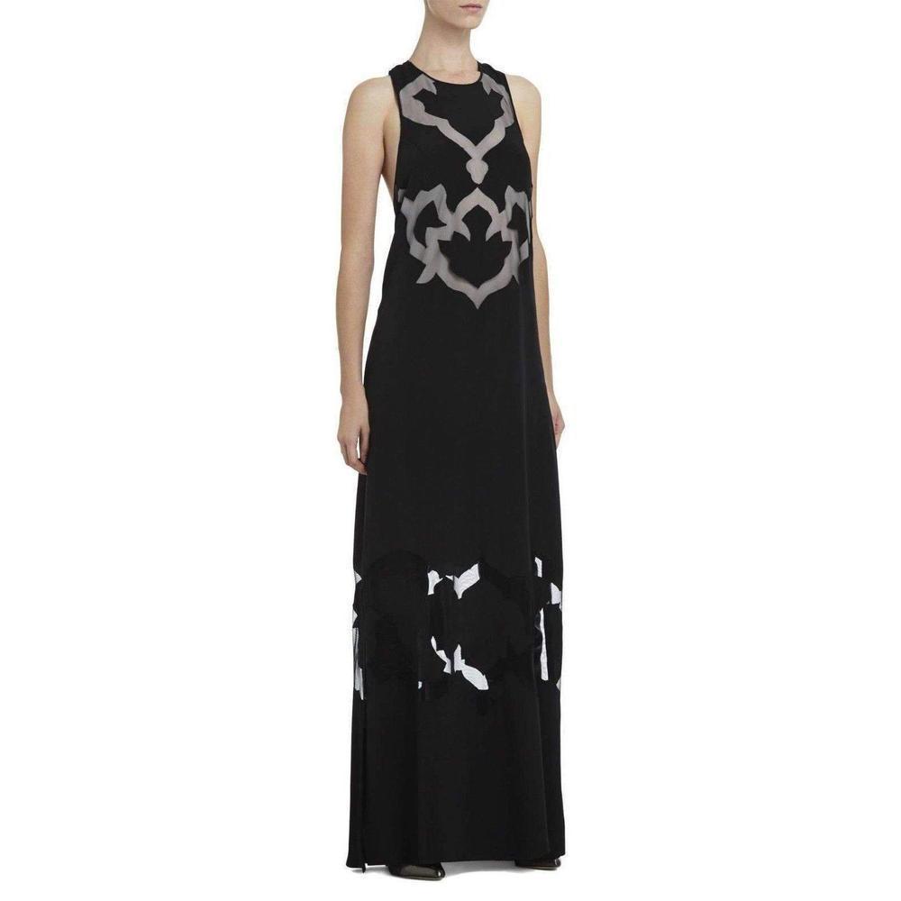 ac759a4e25d Lyst - BCBGMAXAZRIA Runway Perla Blocked Design Silk Dress in Black
