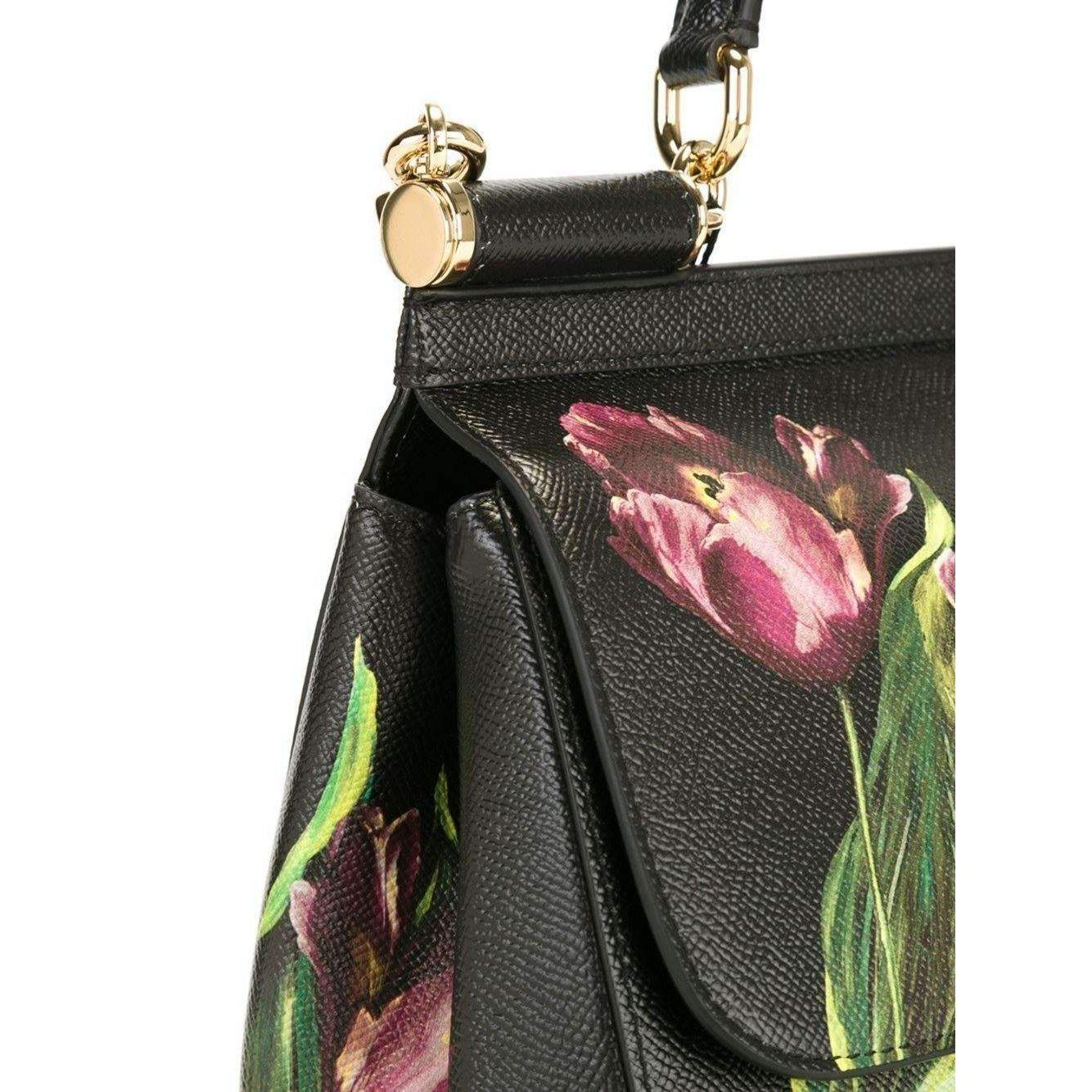 Dolce   Gabbana - Multicolor Sicily Medium Tulip-print Leather Top-handle  Satchel -. View fullscreen 37d3c17a85770