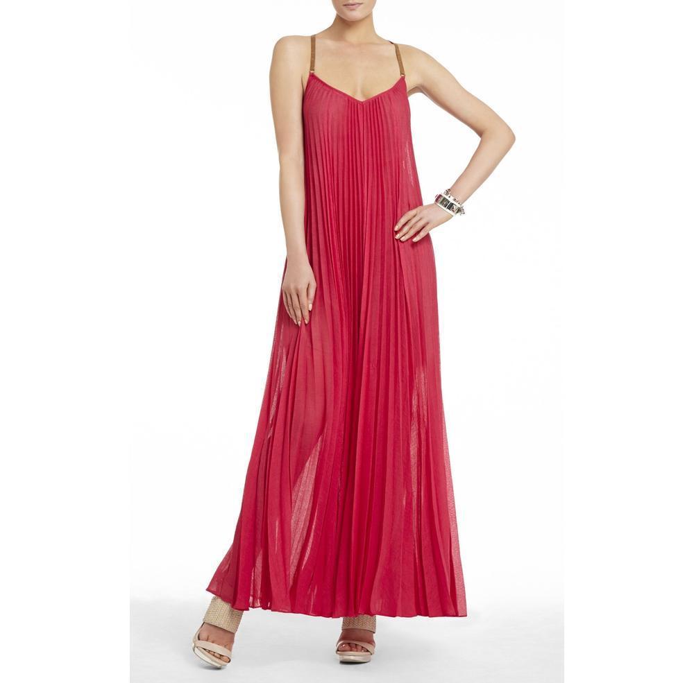 dc984efb7e BCBGMAXAZRIA - Brynna Pink Sleeveless Maxi Dress - Lyst. View fullscreen