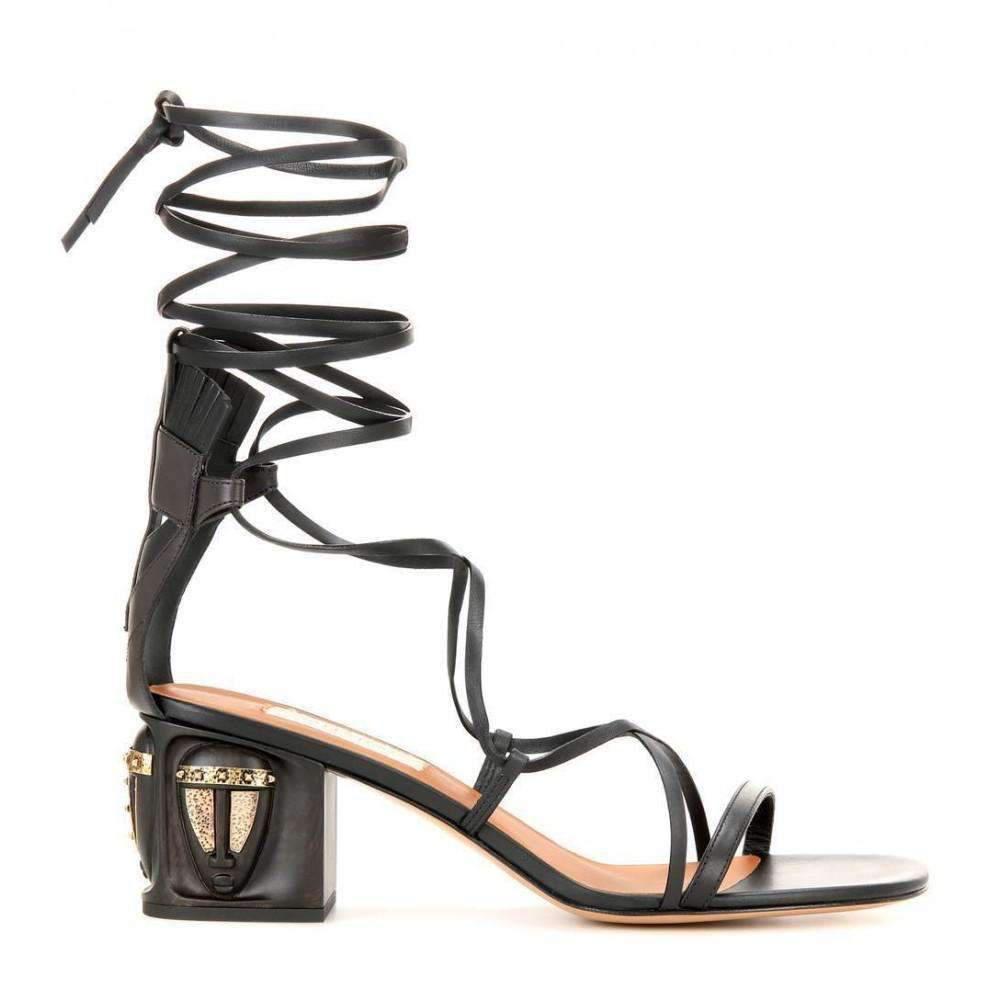 198cd351982 Lyst - Valentino Valentino Gladiator Mask Leather Sandals in Black