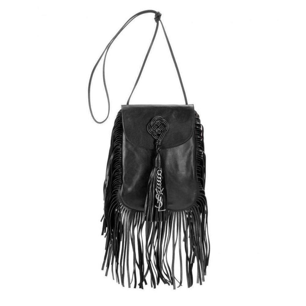 eca77d2d8bcf Saint Laurent. Women s Black Saint Laurent Anita Fringe Leather Shoulder Bag