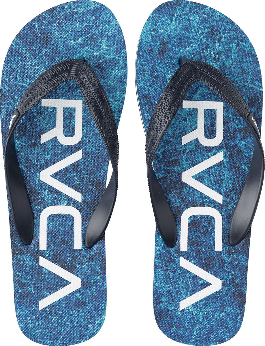5d51063fb0c32 Lyst - Rvca Trench Town Ii Sandals in Blue for Men