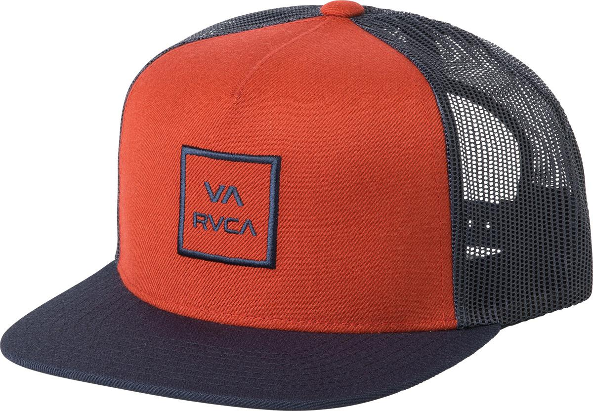 fb9431aaa659d Lyst - Rvca Va All The Way Trucker Hat Iii in Red for Men