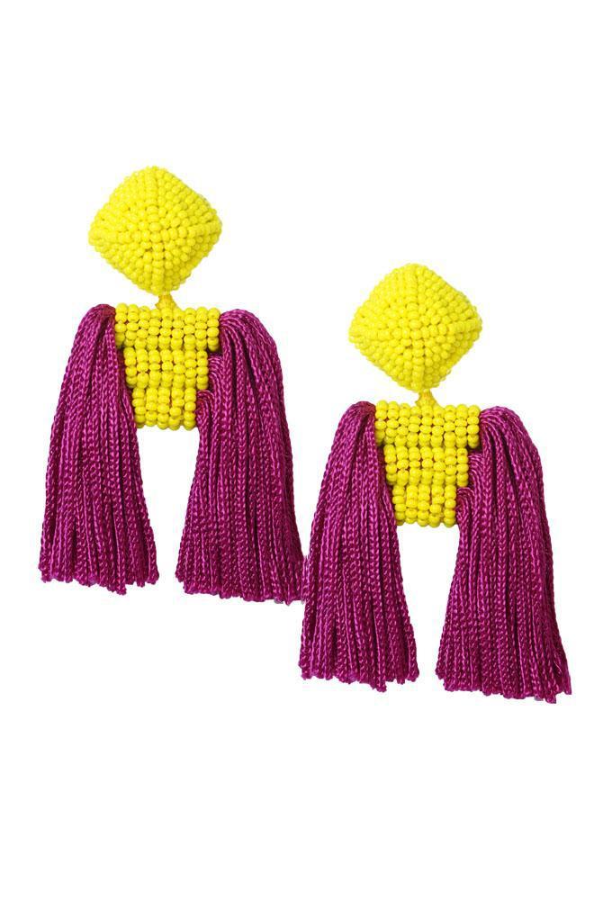 Sachin & Babi Short Dupio Earrings Goldenrod/Fuschia Goldenrod/fuschia 1hKogItK