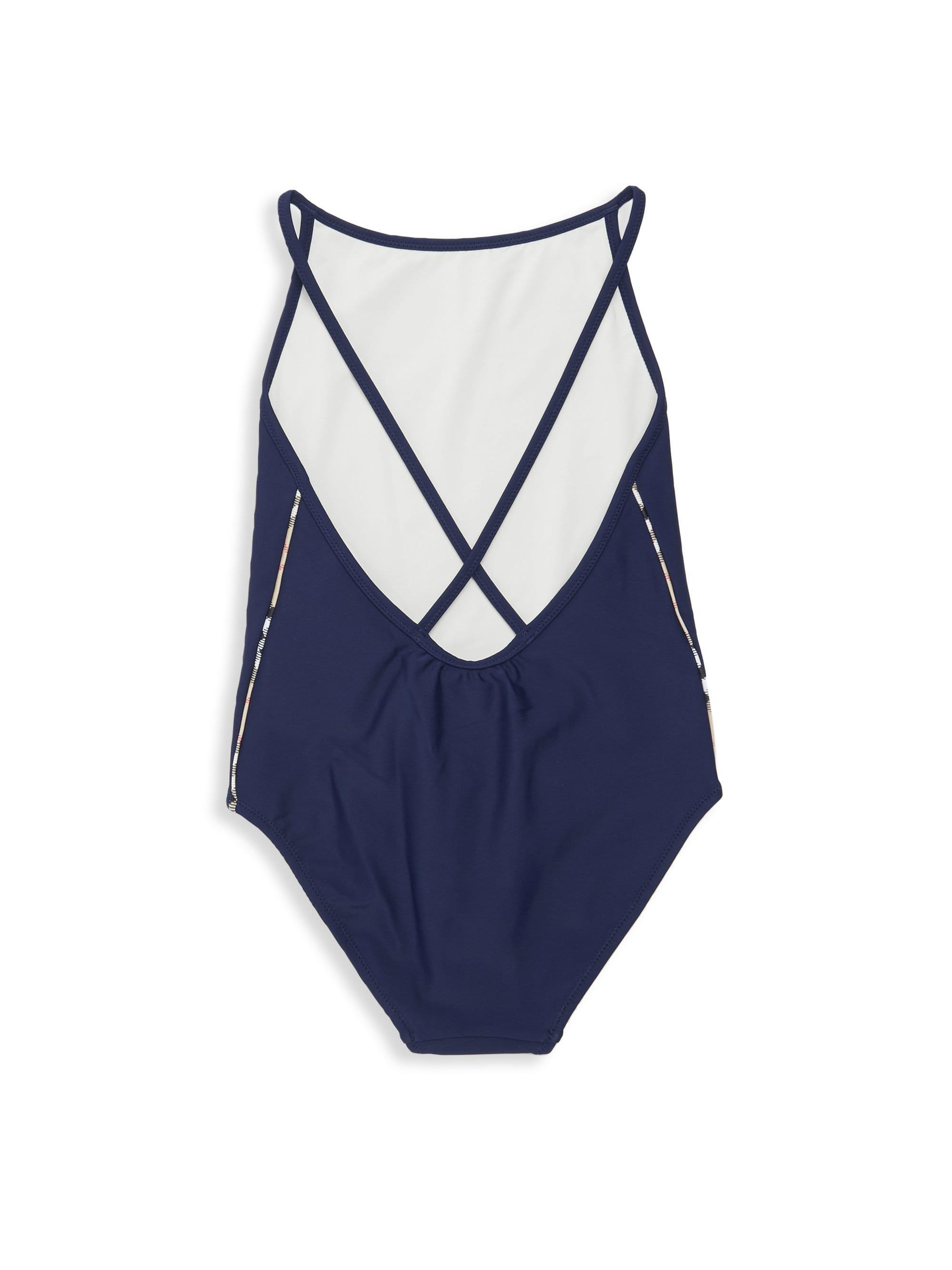 31f128e475 Burberry - Blue Little Girl's & Girl's One-piece Sandine Swimsuit - Lyst.  View fullscreen