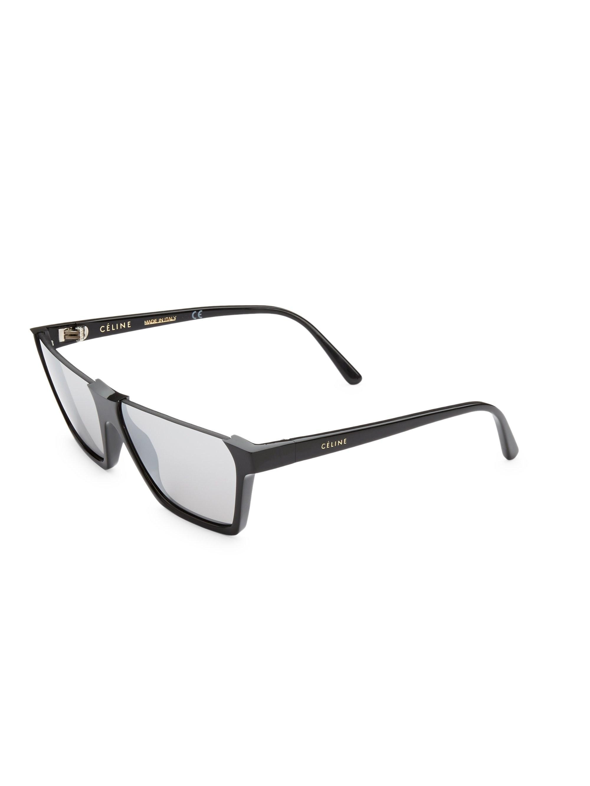 fed275597e Lyst - Céline Women s 60mm Semi-rimless Rectangular Sunglasses ...