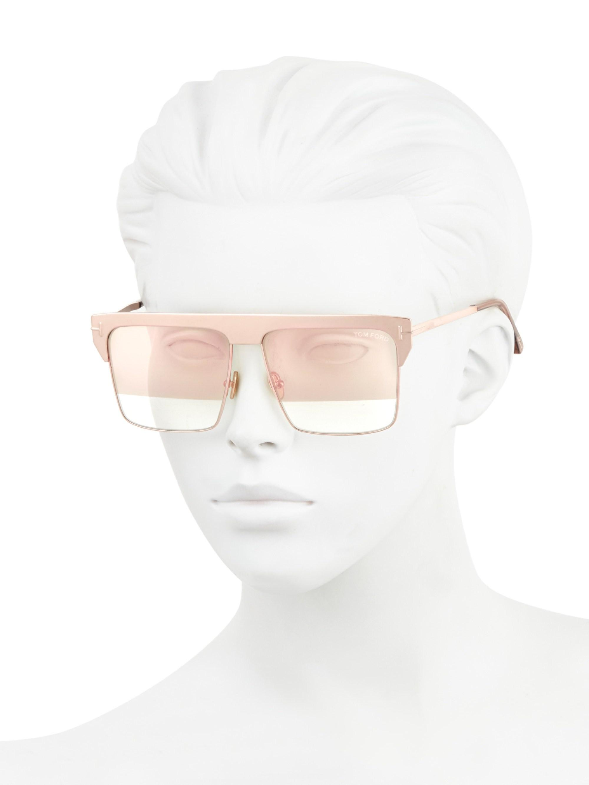 cc61d1be57 Tom Ford - Multicolor Women s West 59mm Square Rose Goldplated Sunglasses -  Rose Gold - Lyst. View fullscreen