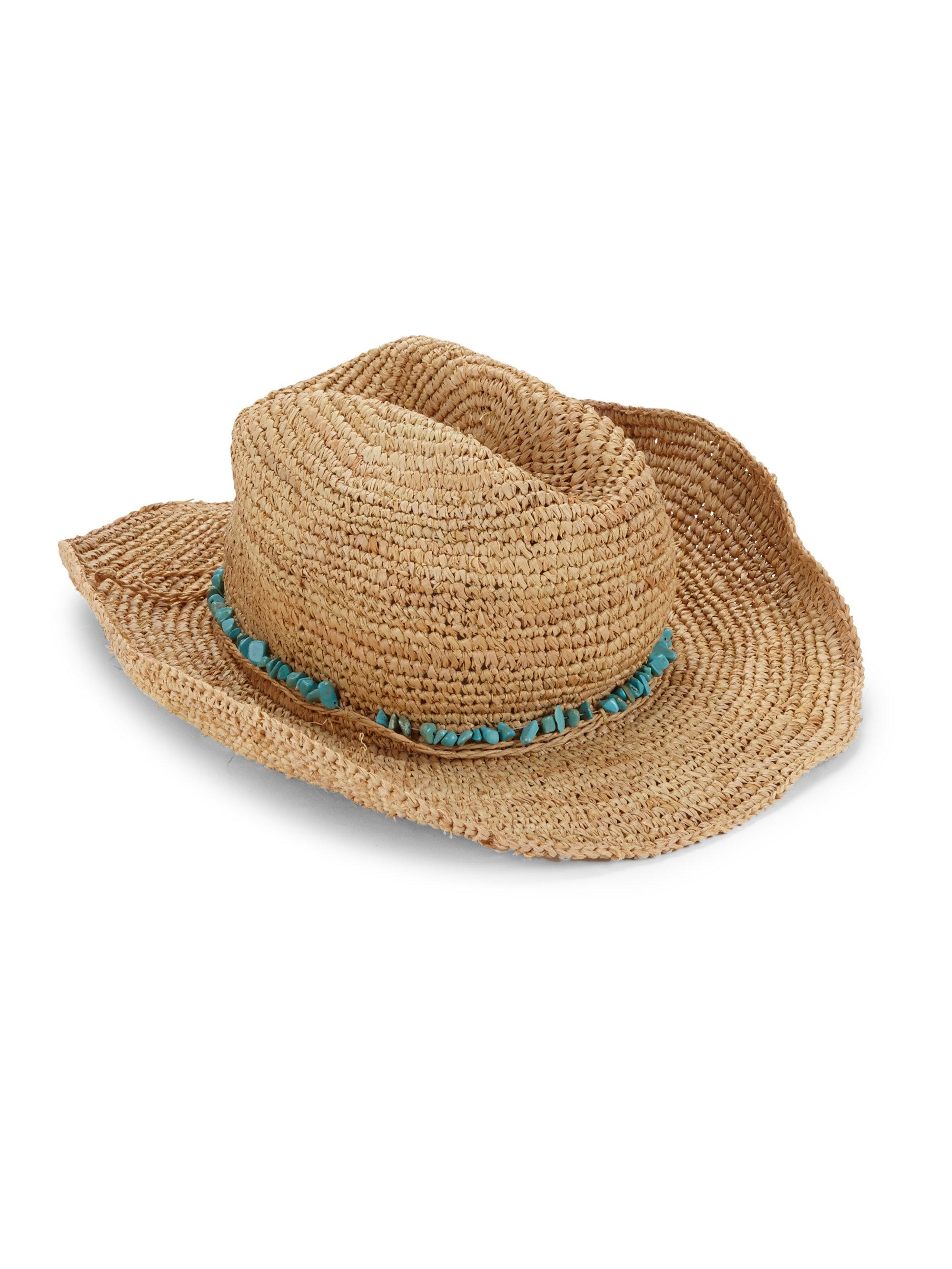 Melissa Odabash Elle Cowboy Hat in Natural - Lyst 9cac9a4ccb18