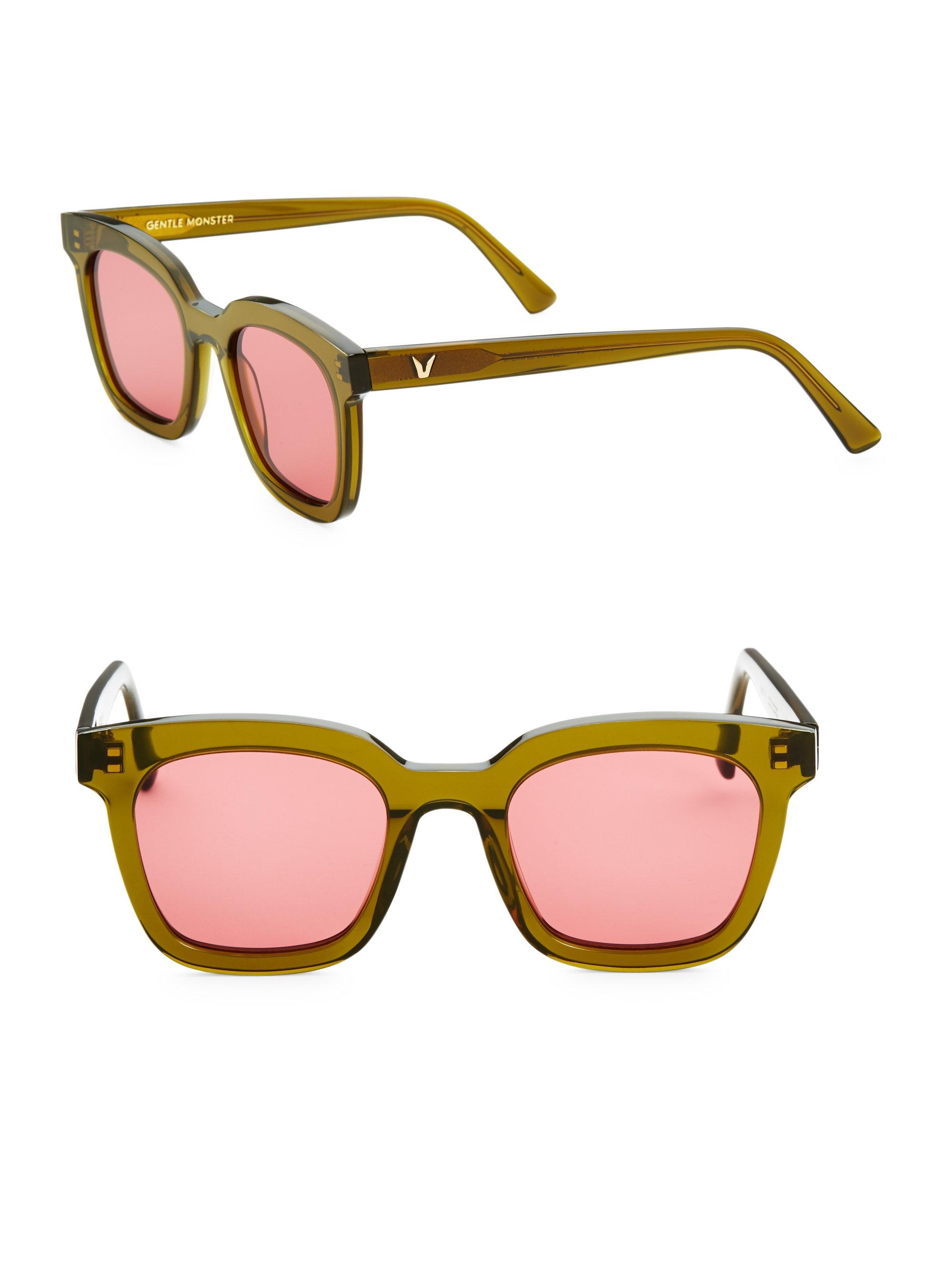 540a61754dbf Lyst - Gentle Monster 48mm Finn Retro Square Sunglasses in Pink