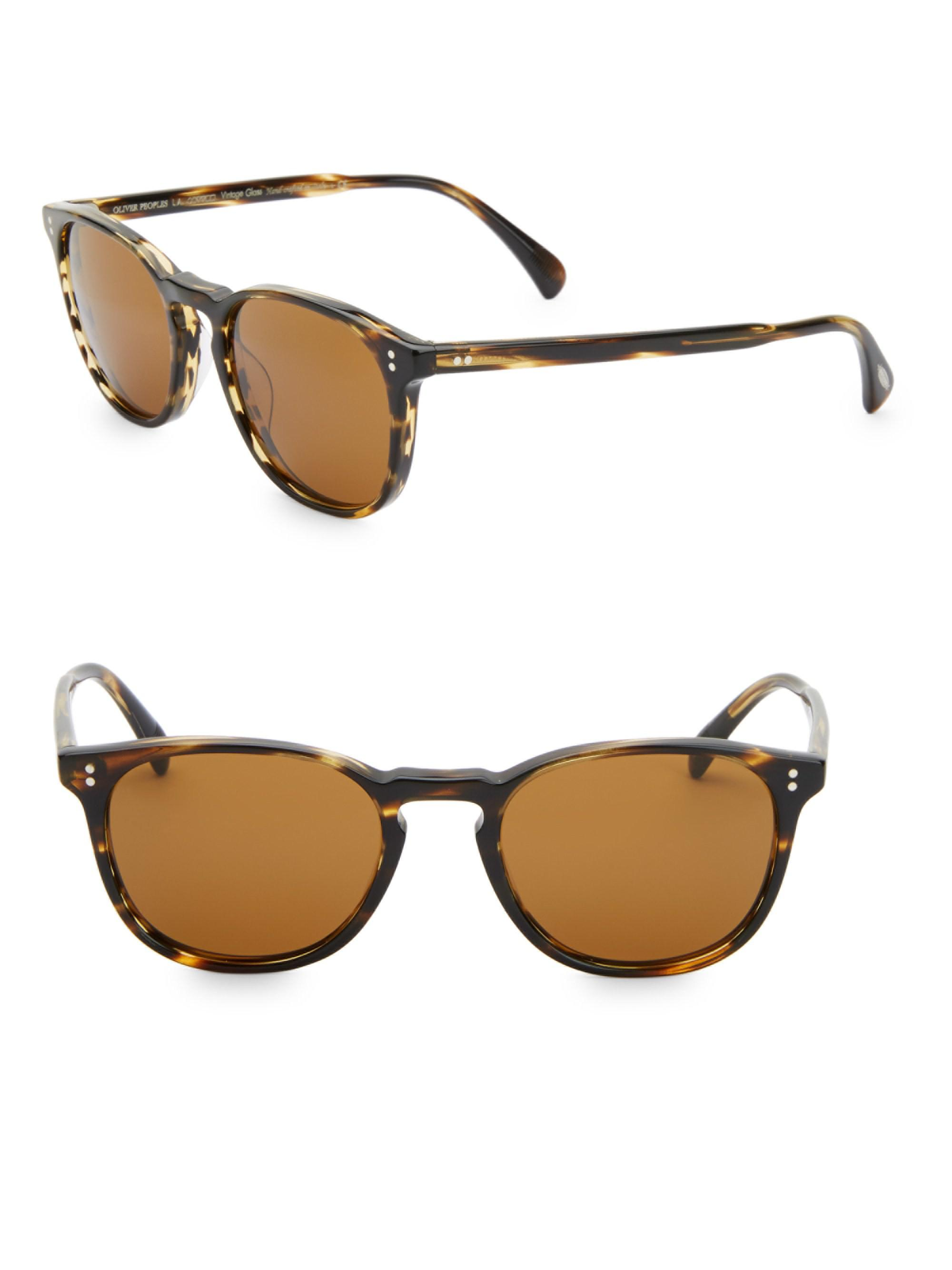 c21dcc011ed Oliver Peoples - Multicolor Finley Esquire 51mm Round Sunglasses for Men -  Lyst. View fullscreen