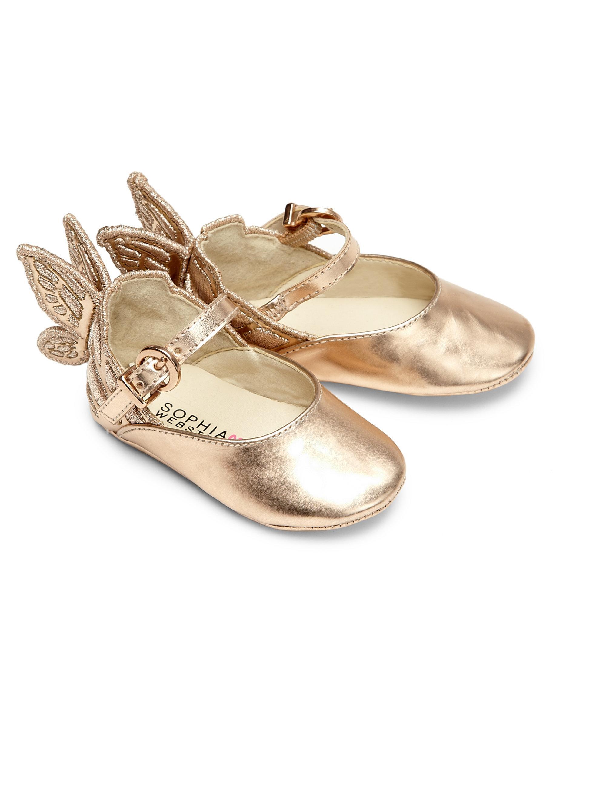 5166911300a39 Sophia Webster Baby s Mini Chiara Wing Leather Flats in Metallic - Lyst