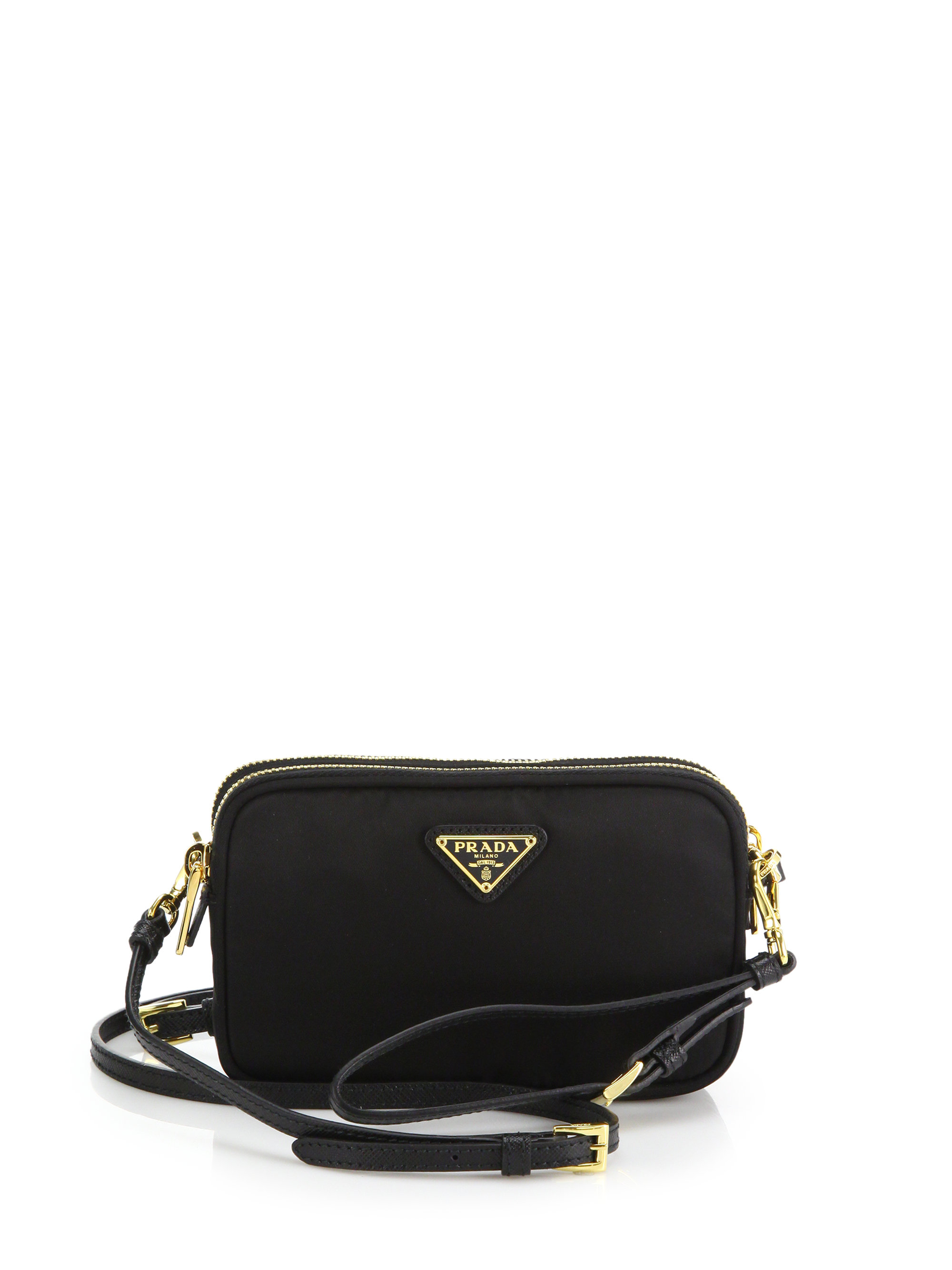 82068e4ba65a ... order lyst prada nylon camera bag in black 9a01e 31f0b