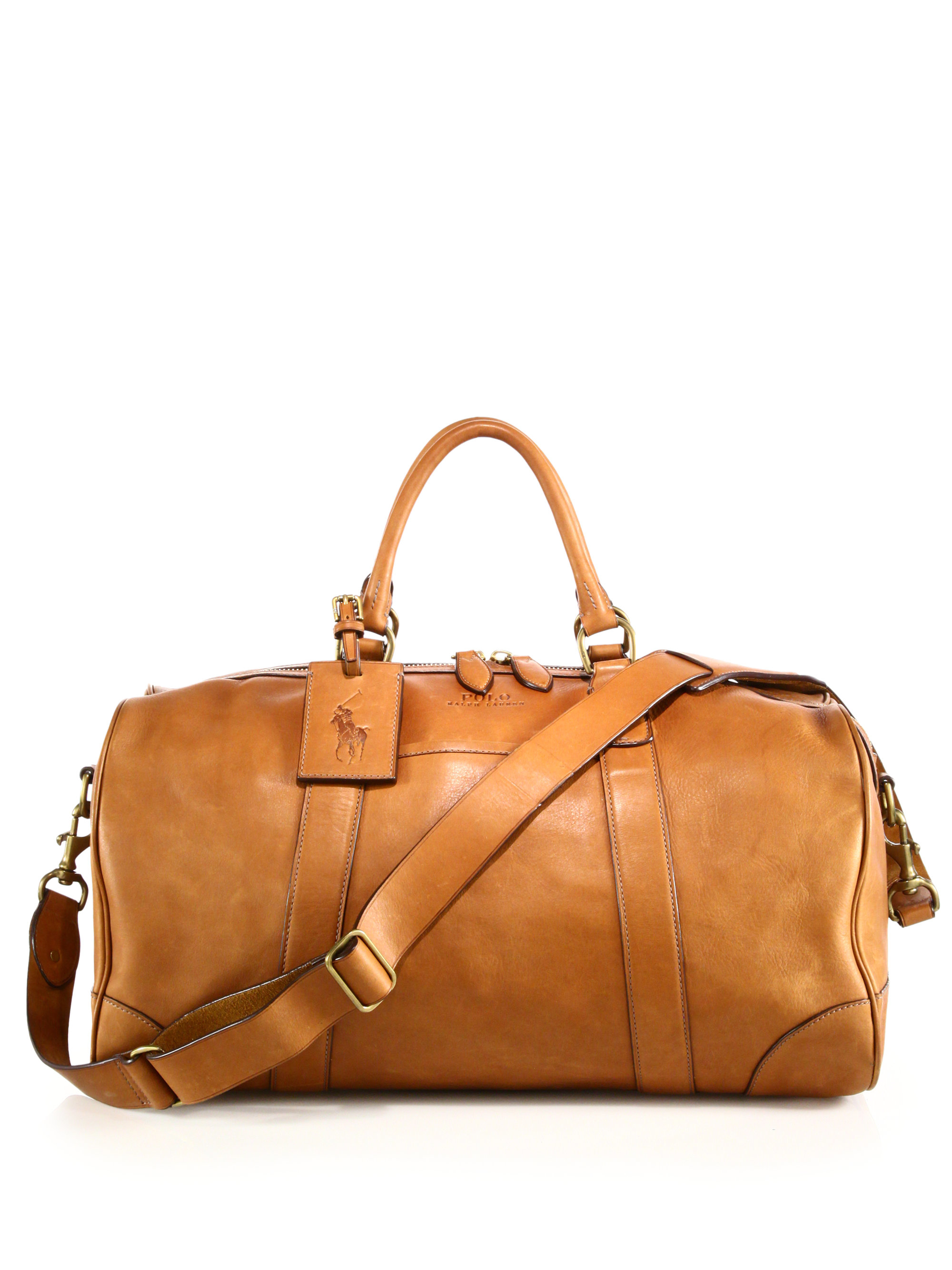 6943d954166e ... usa lyst polo ralph lauren leather duffel bag in brown for men 35b72  6dc30