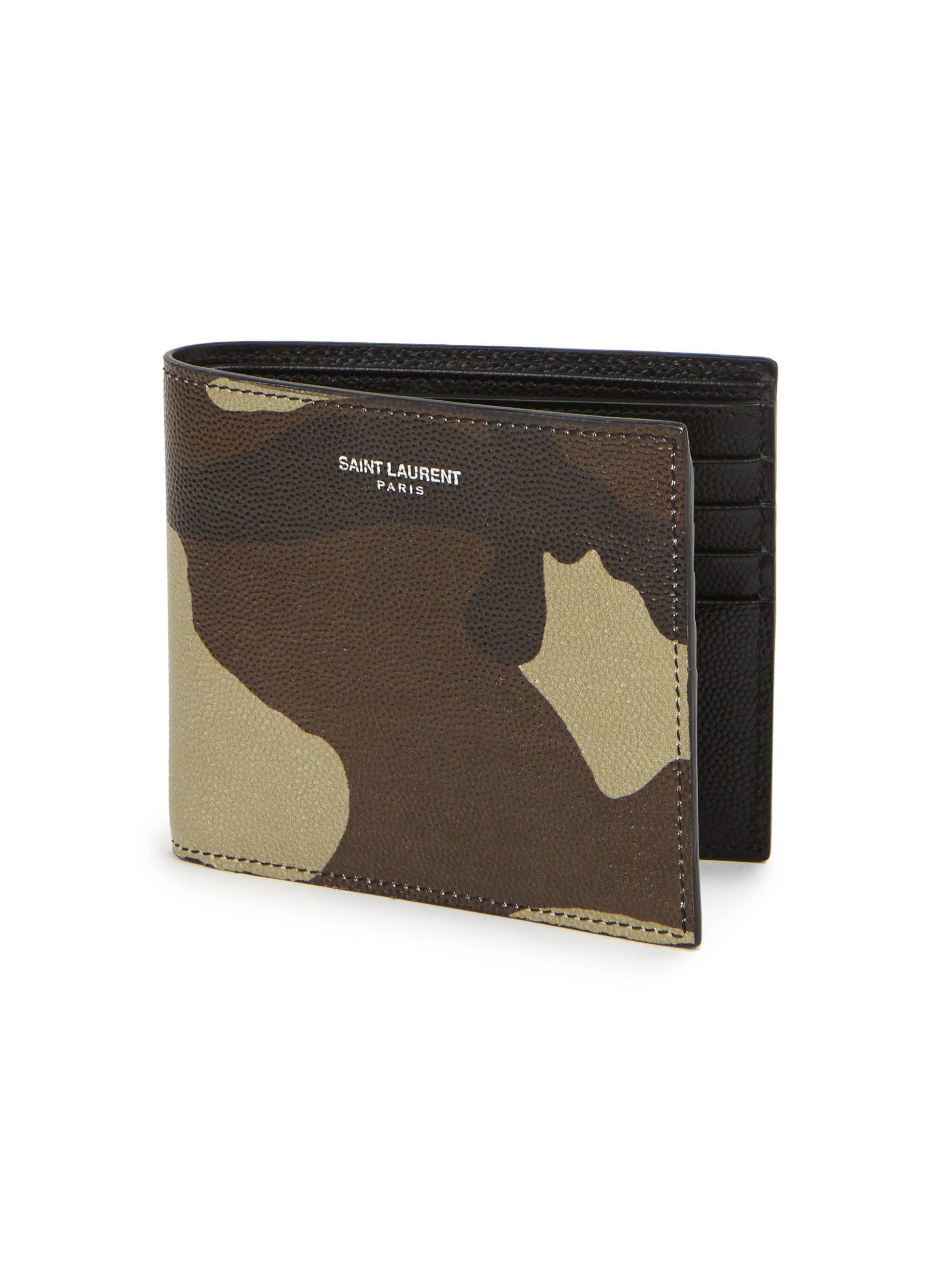 1955c0c8431 Saint Laurent Camouflage Leather Bifold Wallet for Men - Lyst