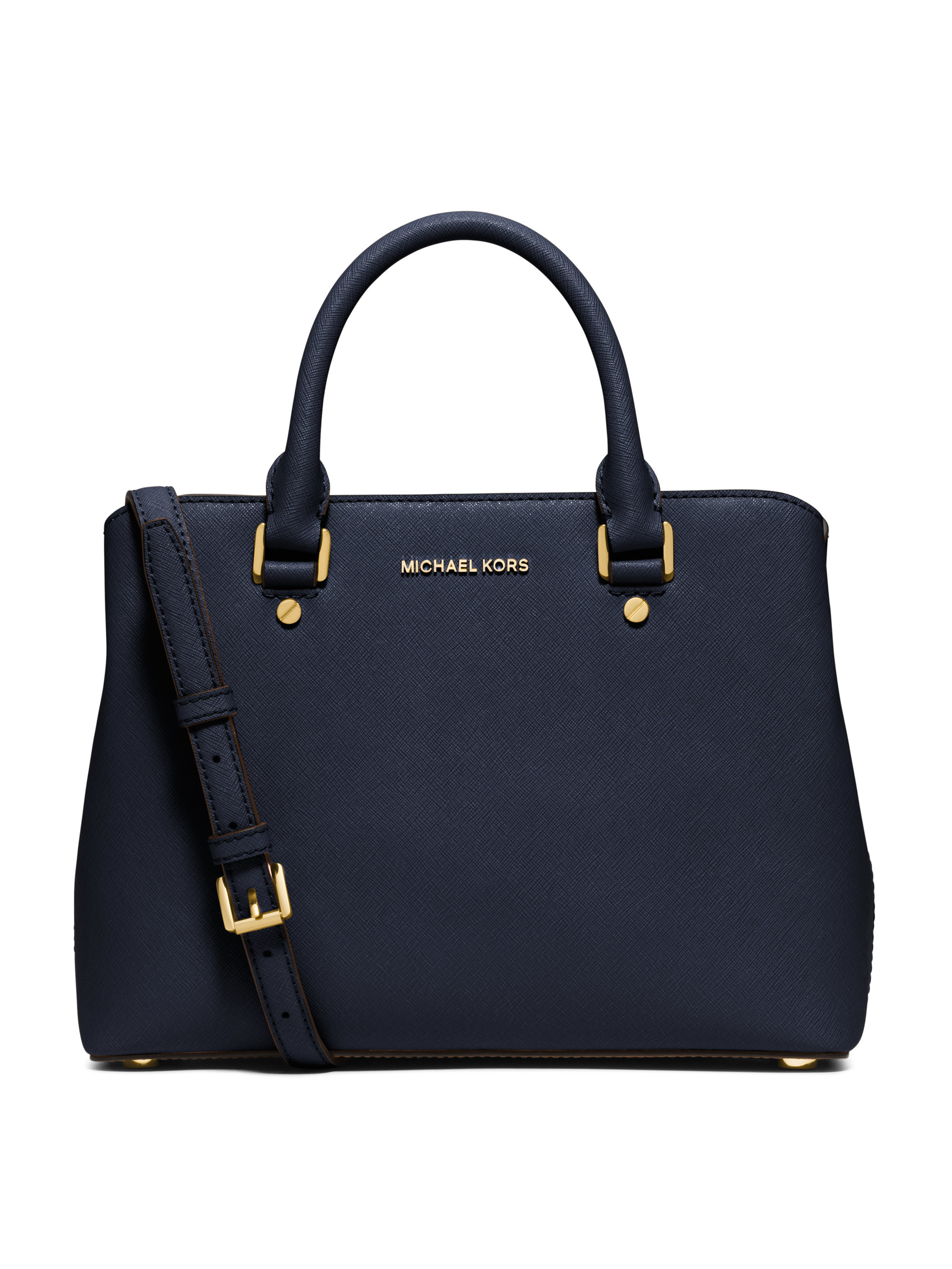 michael michael kors savannah medium saffiano leather satchel in blue lyst. Black Bedroom Furniture Sets. Home Design Ideas