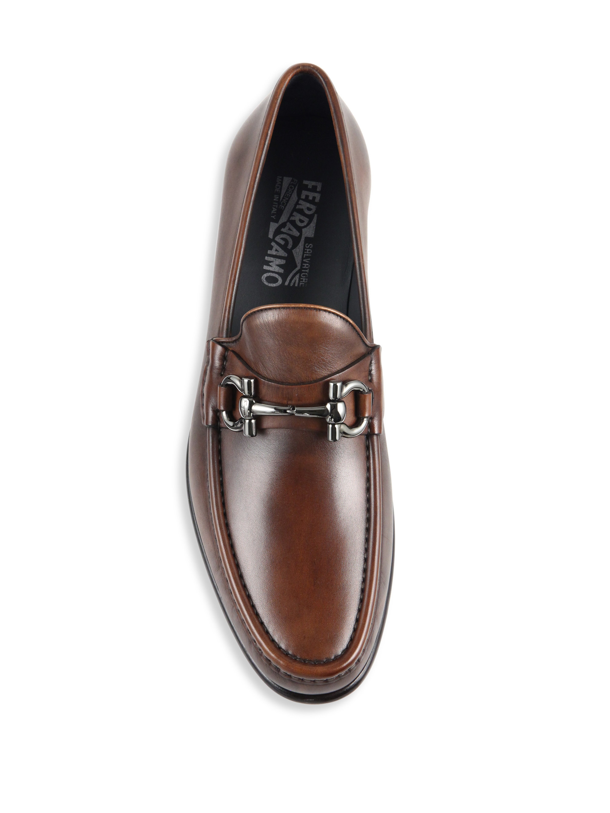 e860c1811aab5 Ferragamo Mason Saddle Pebble Loafers in Brown for Men - Lyst