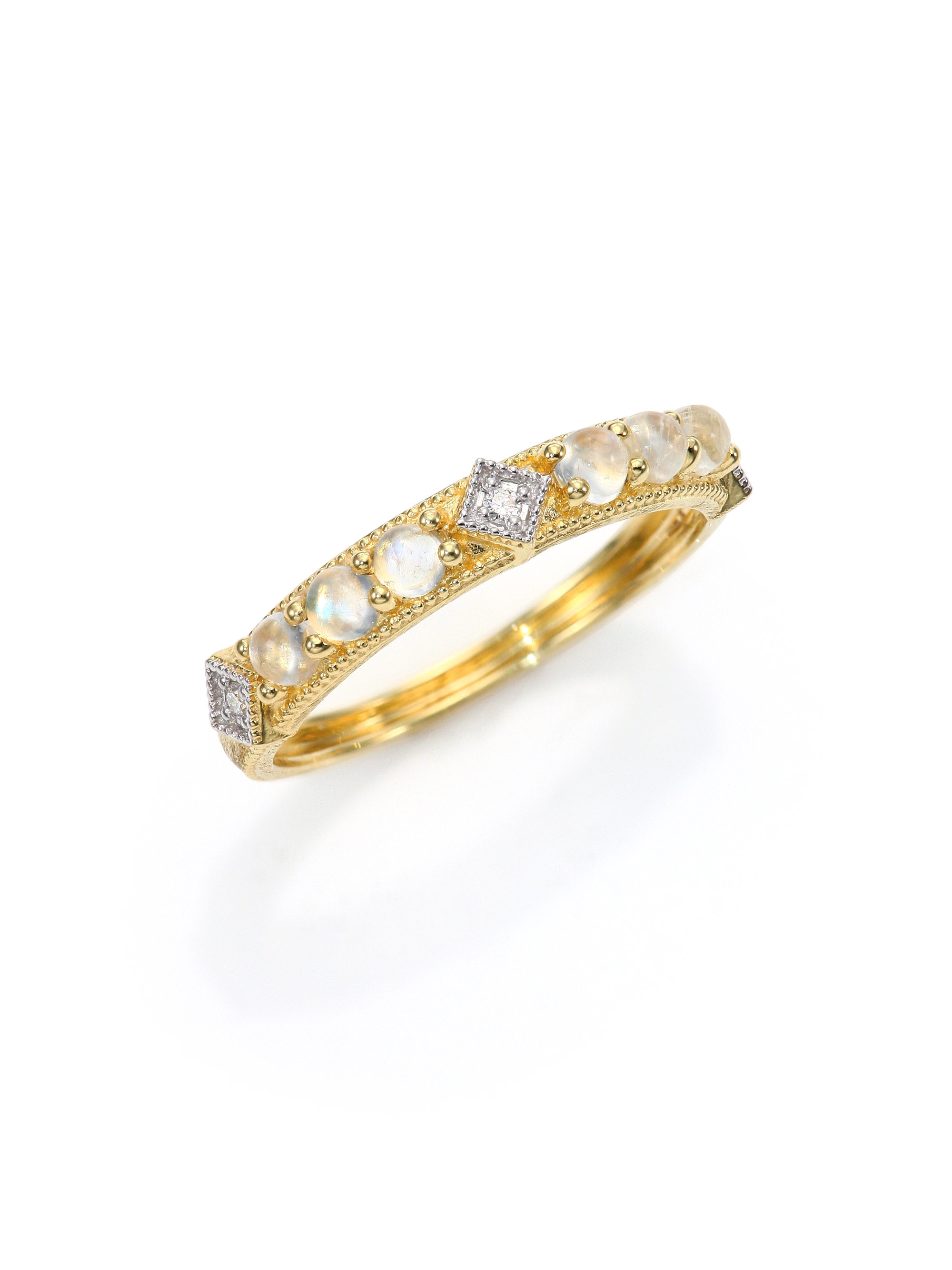 Lyst - Jude Frances Lisse Diamond, Moonstone & 18k Yellow Gold ...