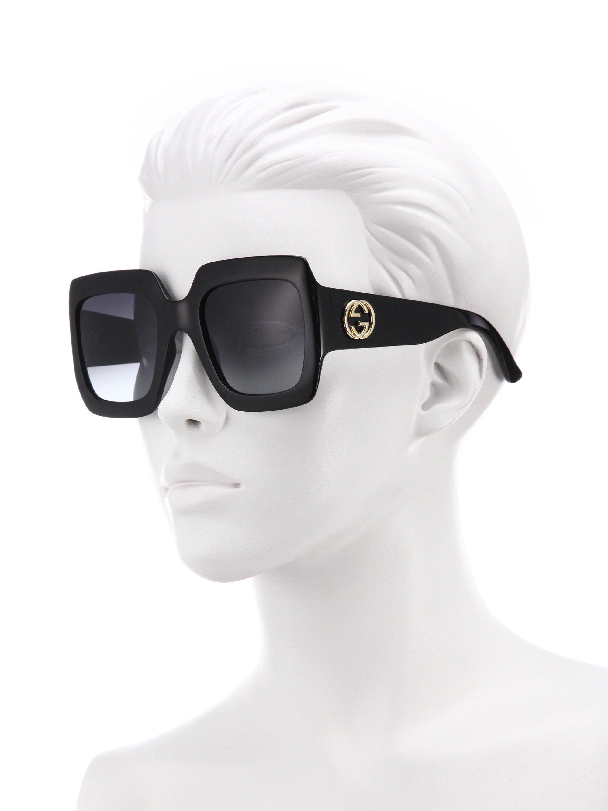 f2a609668f813 Gucci 54mm Oversized Square Sunglasses in Black - Lyst