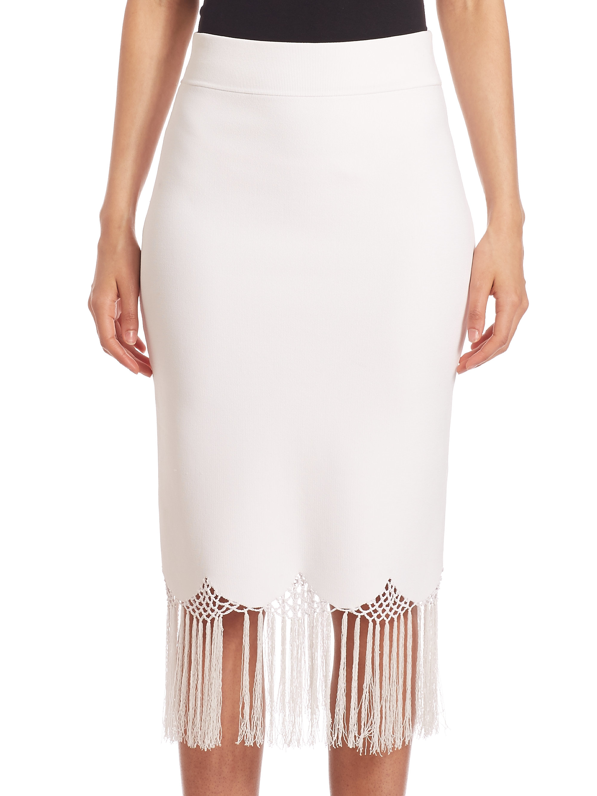 a l c fitted high waist skirt in white lyst