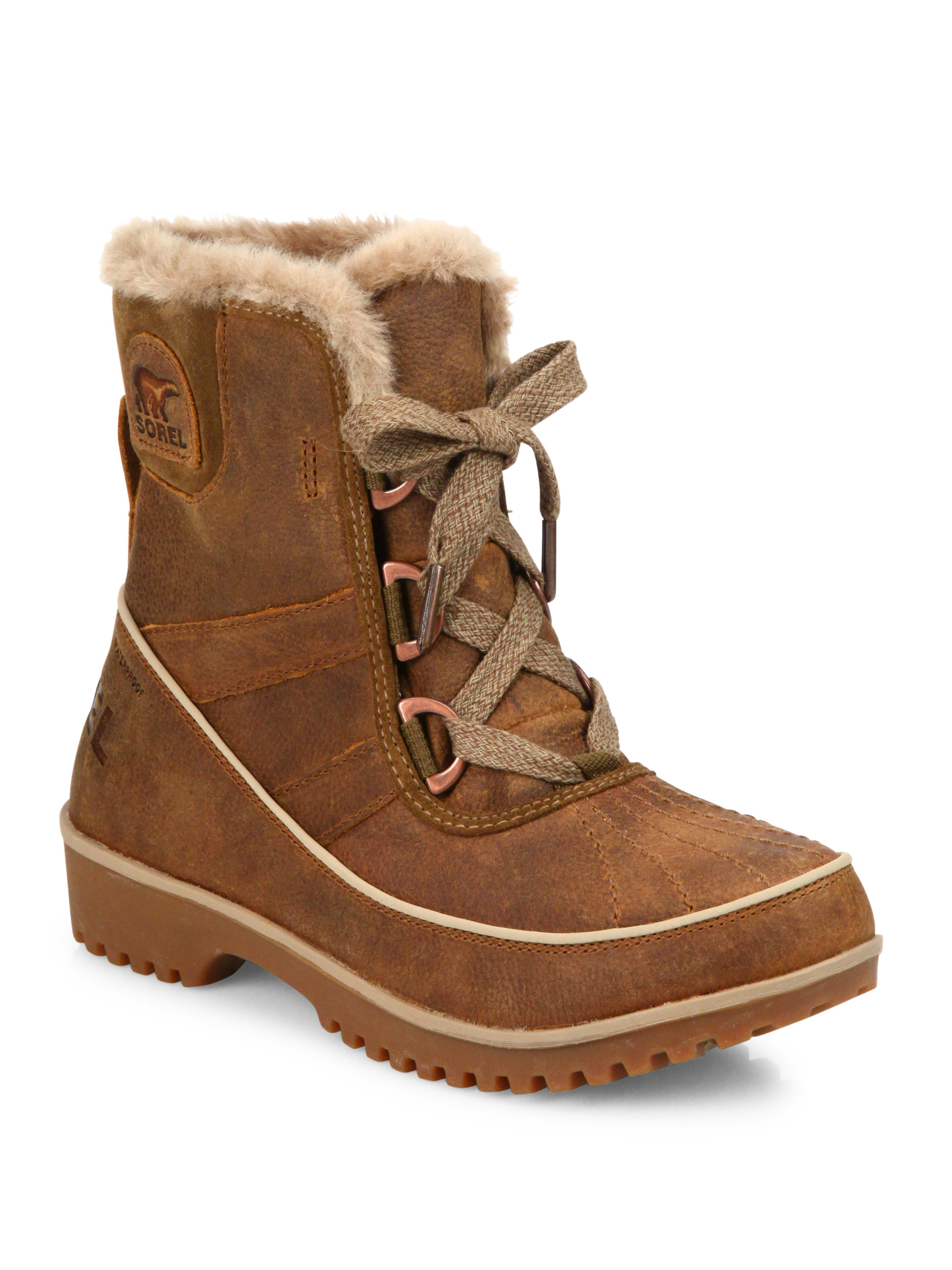 Sorel Tivoli Ii Premium Leather & Faux Fur Boots in Brown ...