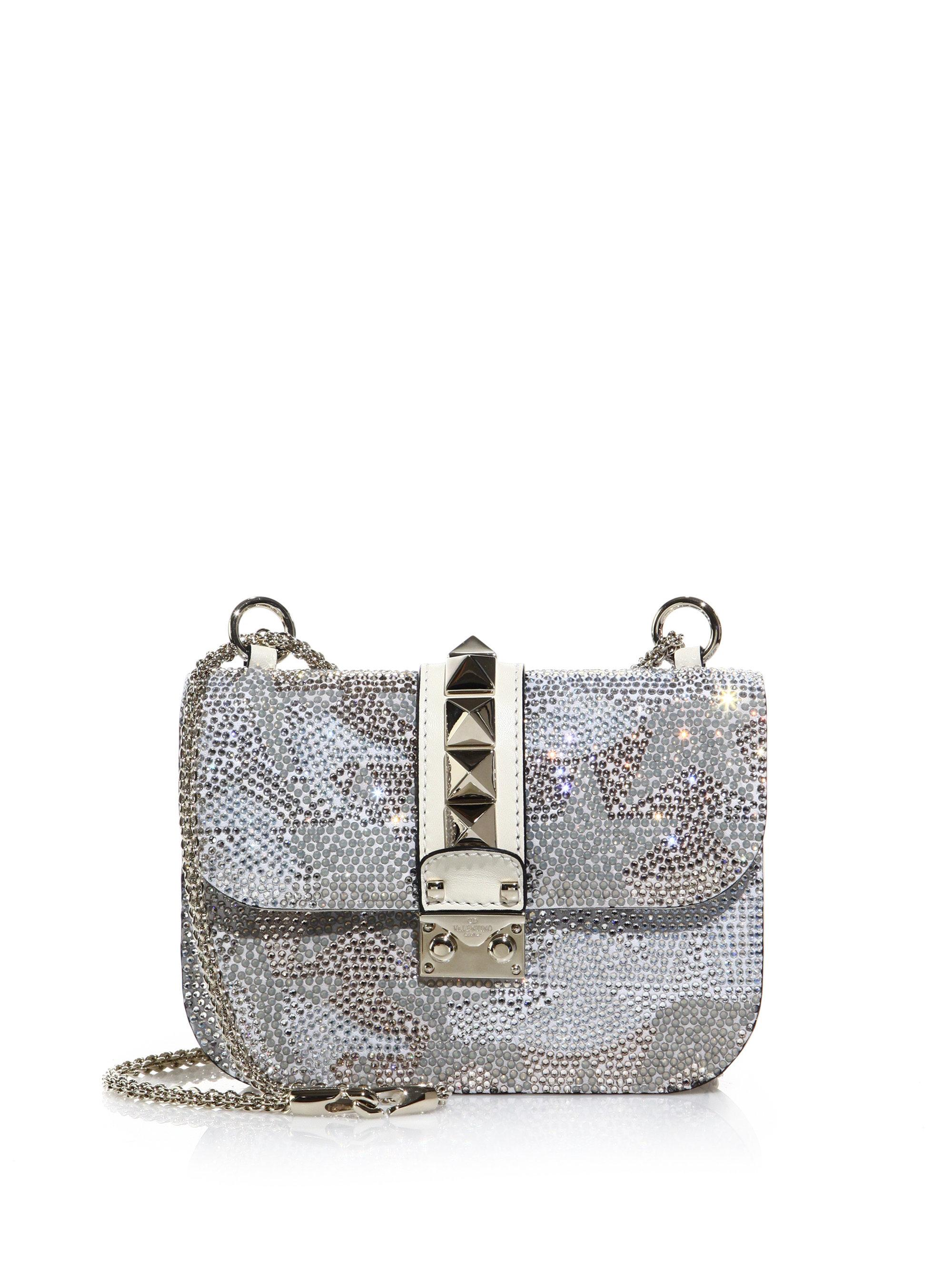 Valentino Crystal Embroidered Chain Shoulder Bag 2pNEnPr6