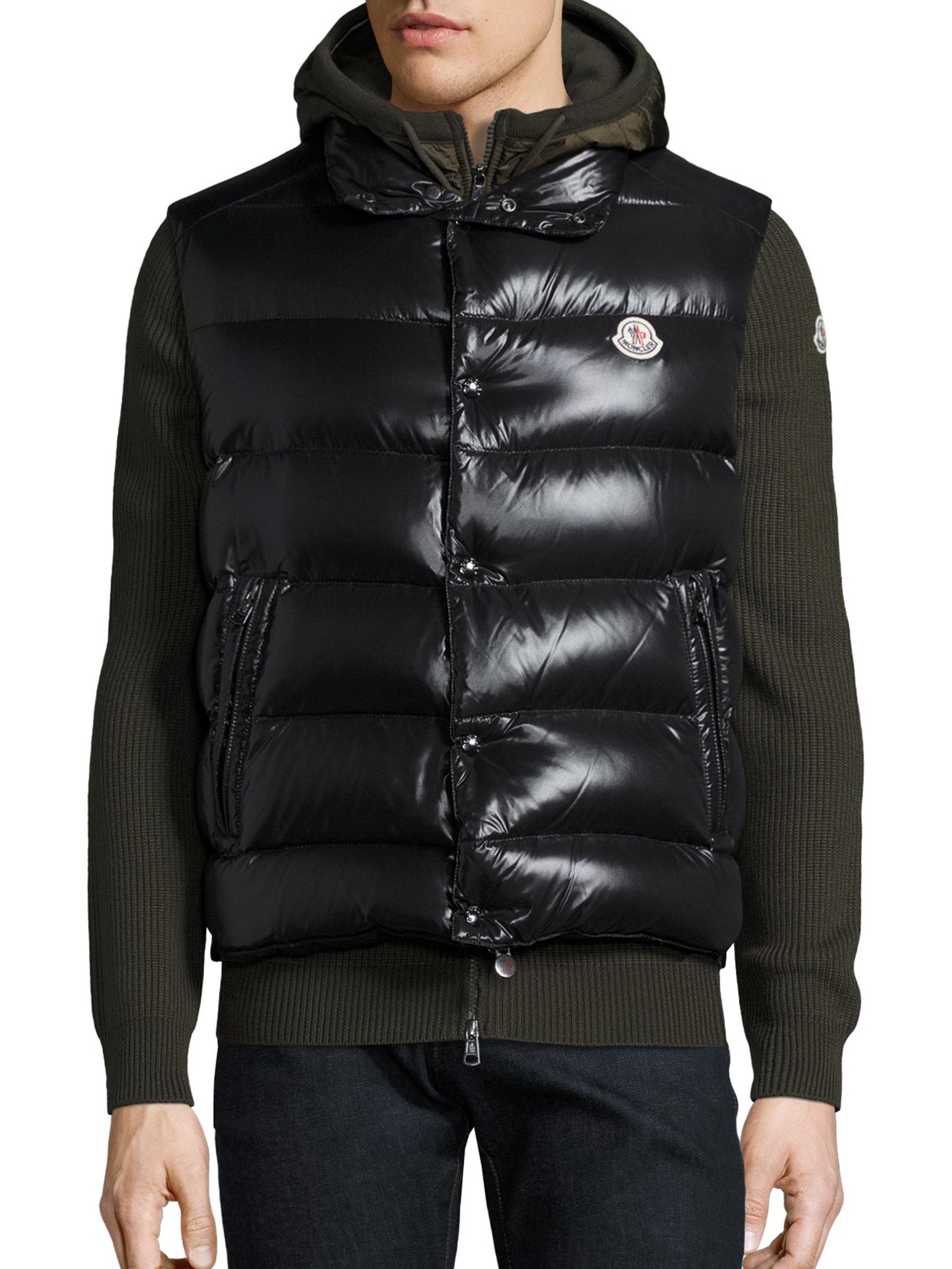 Lyst Moncler Tib Down Puffer Vest In Black For Men