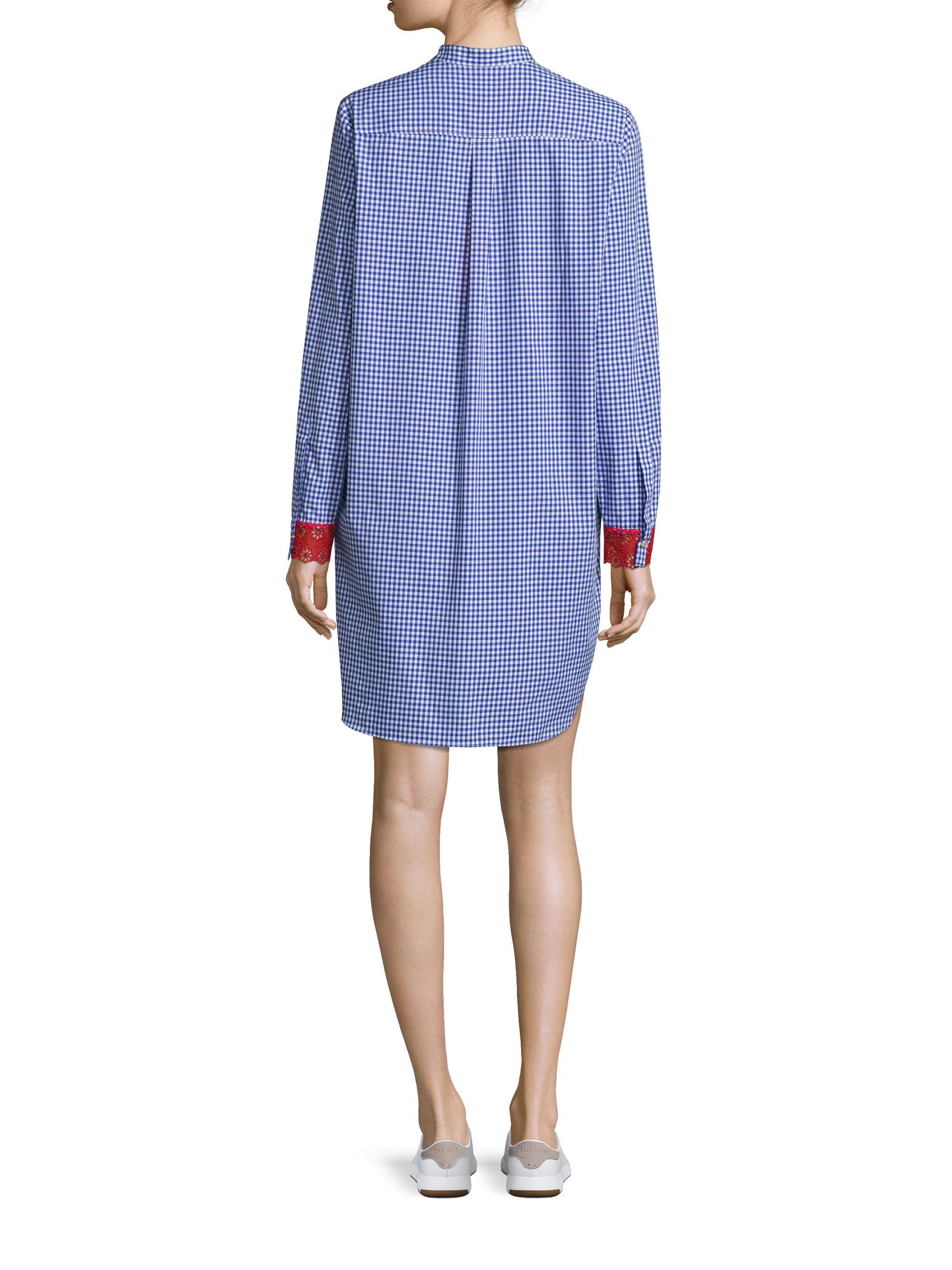 Tommy Hilfiger Gingham Shirtdress In Blue Lyst