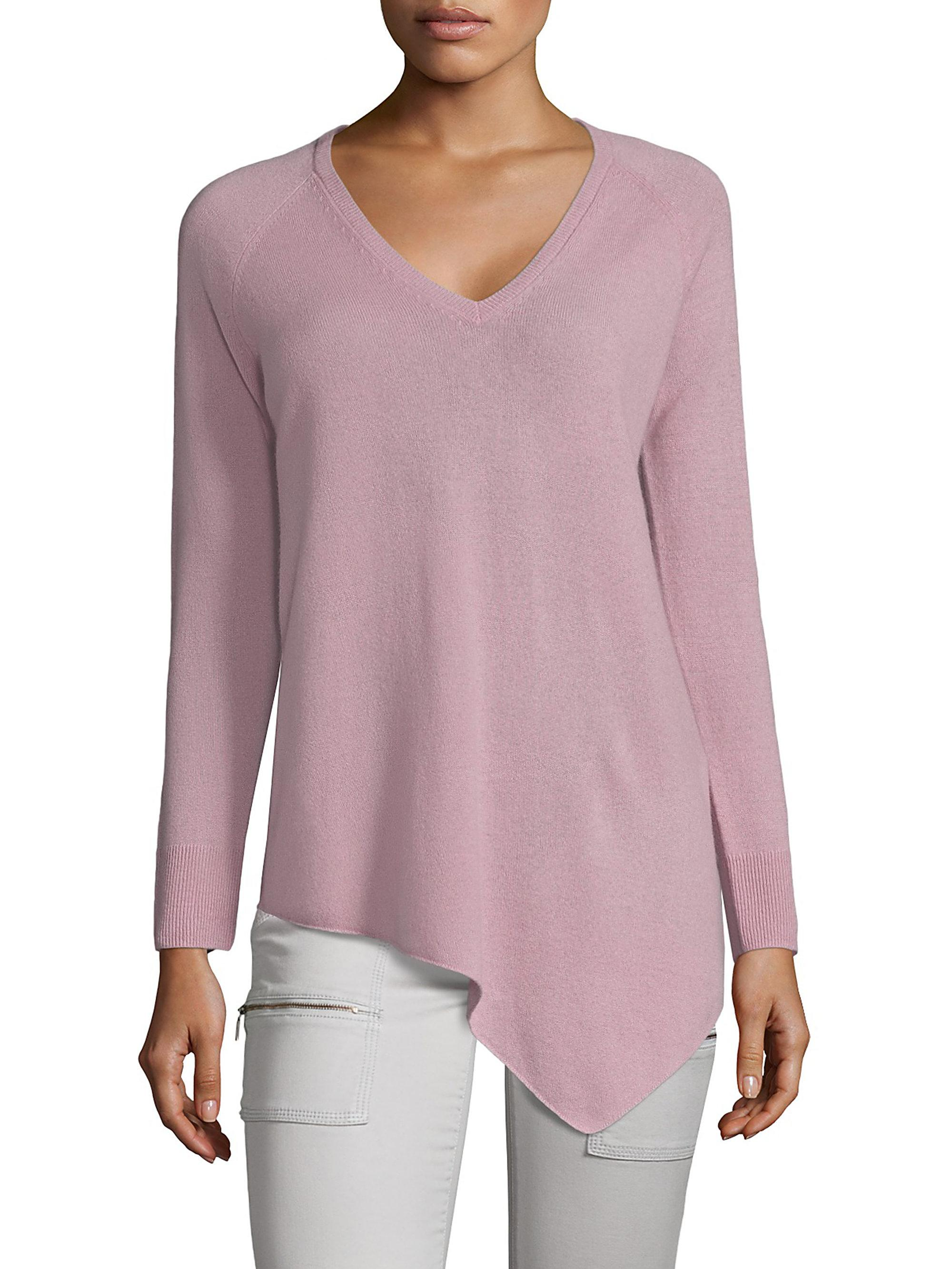 Joie Woman Shatoria Asymmetric Cashmere Sweater Lilac Size XS Joie Discount Websites Sale Hot Sale Cheap Real Finishline Big Sale Discount Pay With Visa 7A1NK7