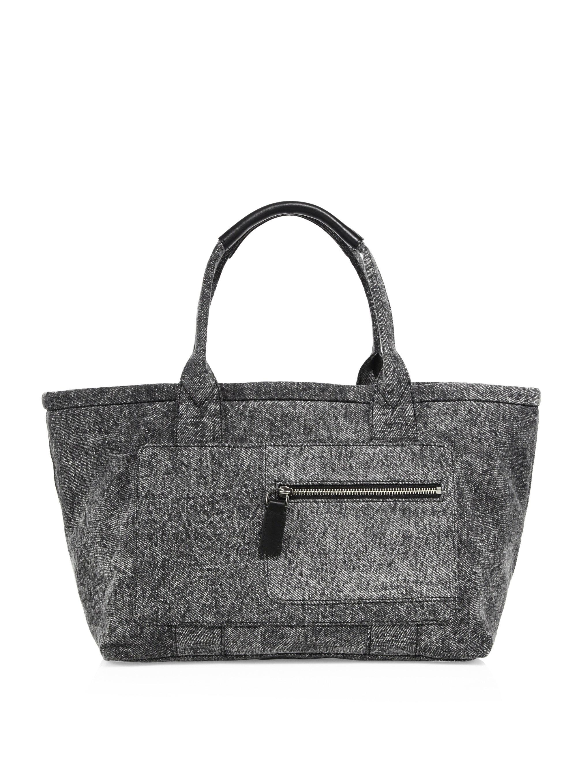 Customizable Denim East-West Tote