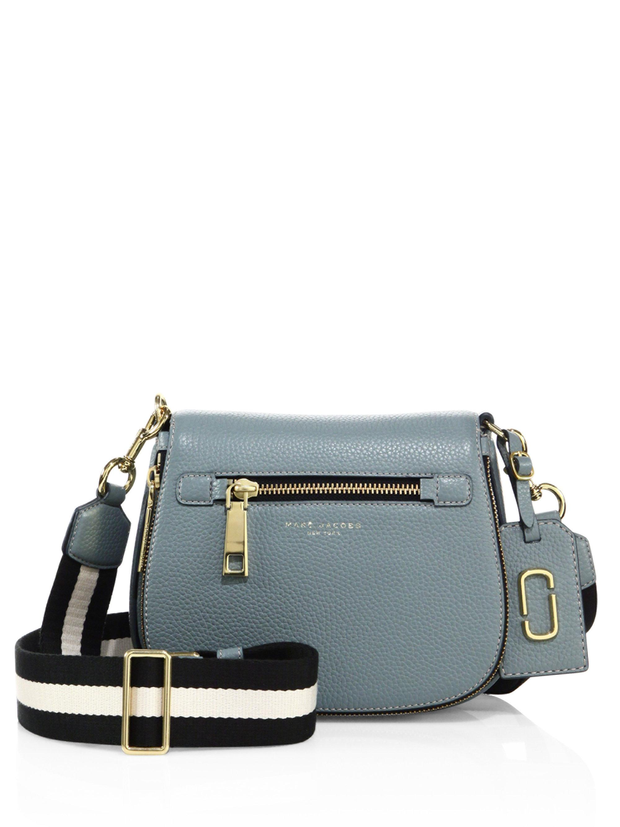 2179d8a3d219 Lyst - Marc Jacobs Gotham Small Leather Saddle Bag in Blue