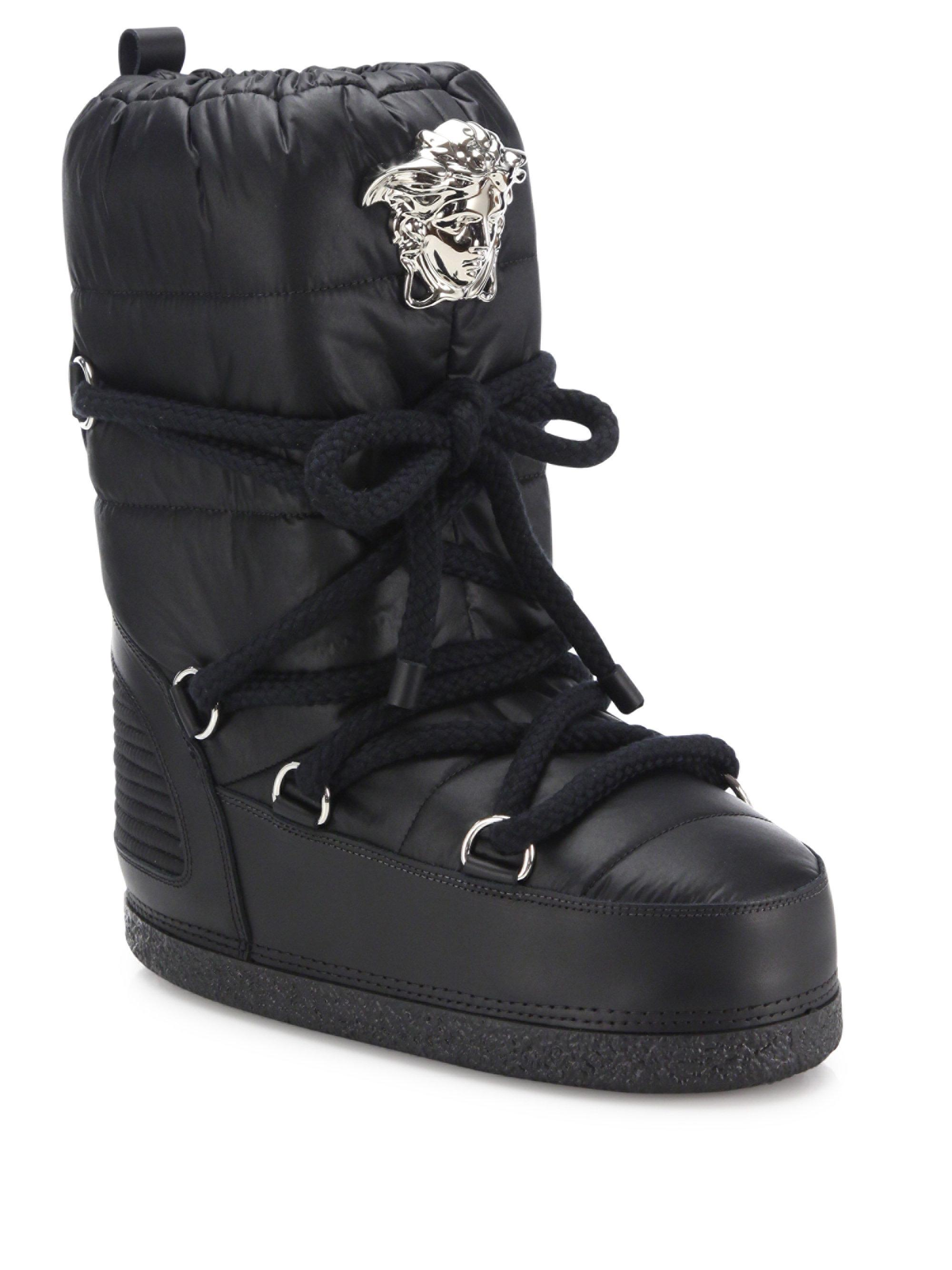 Lyst Versace Snow Boots In Black