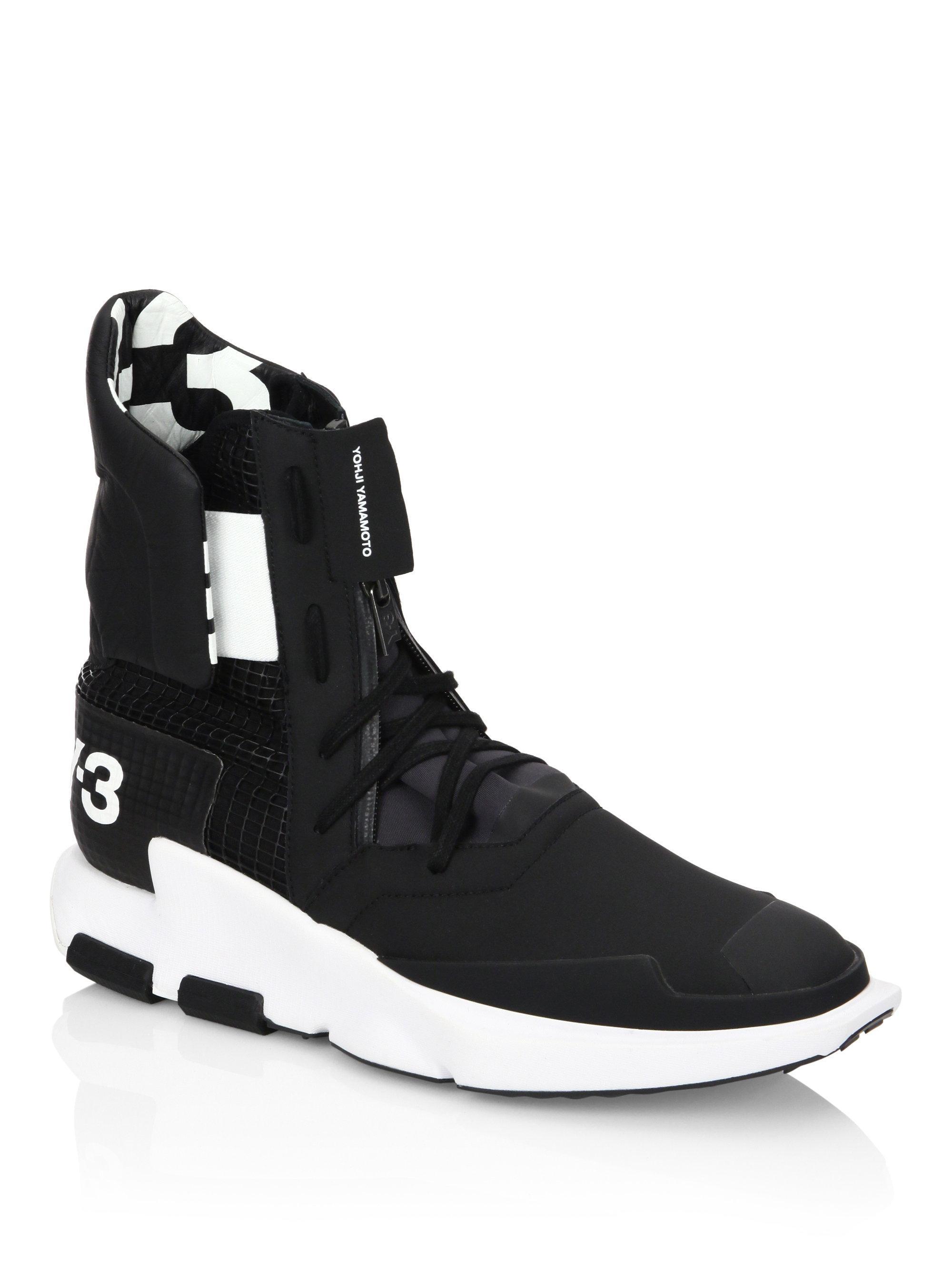 b86246783dbf3 Lyst - Y-3 Y3 Noci High Top Sneakers in Black for Men