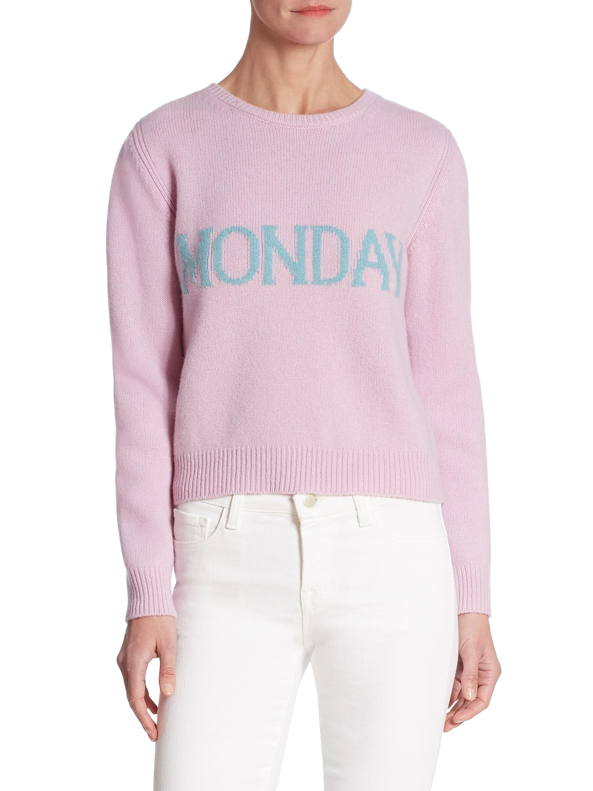 enorme sconto 1268a 24d33 Alberta Ferretti Monday Wool-blend Sweater in Pink - Lyst