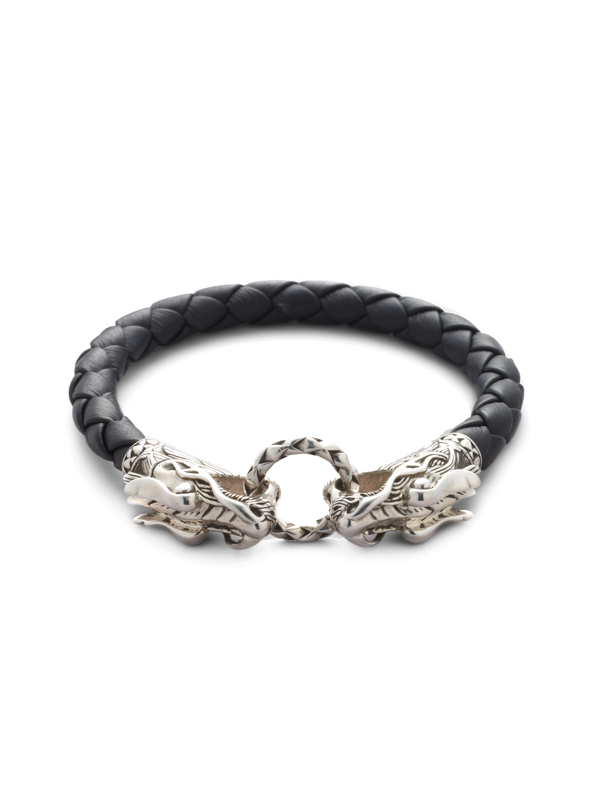 john hardy naga dragon bracelet in black for men lyst