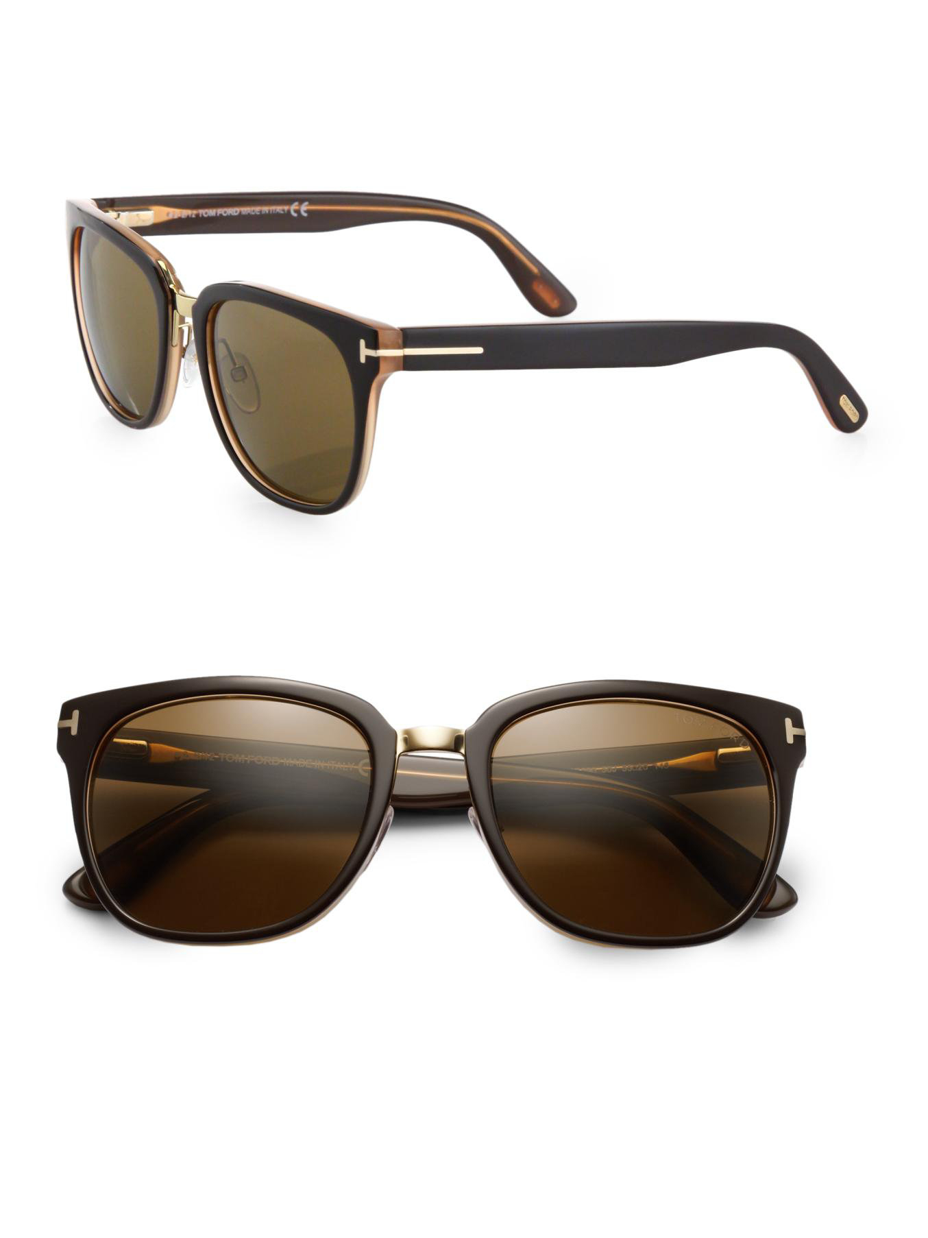 Tom ford Rock 55mm Square Sunglasses in Black | Lyst