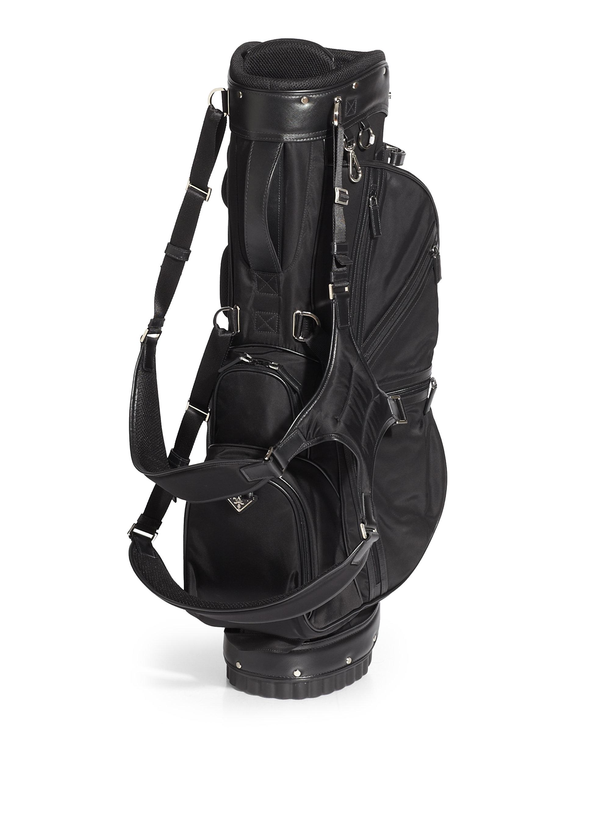 387bedf6dc5e Prada Nylon Golf Bag in Black for Men - Lyst