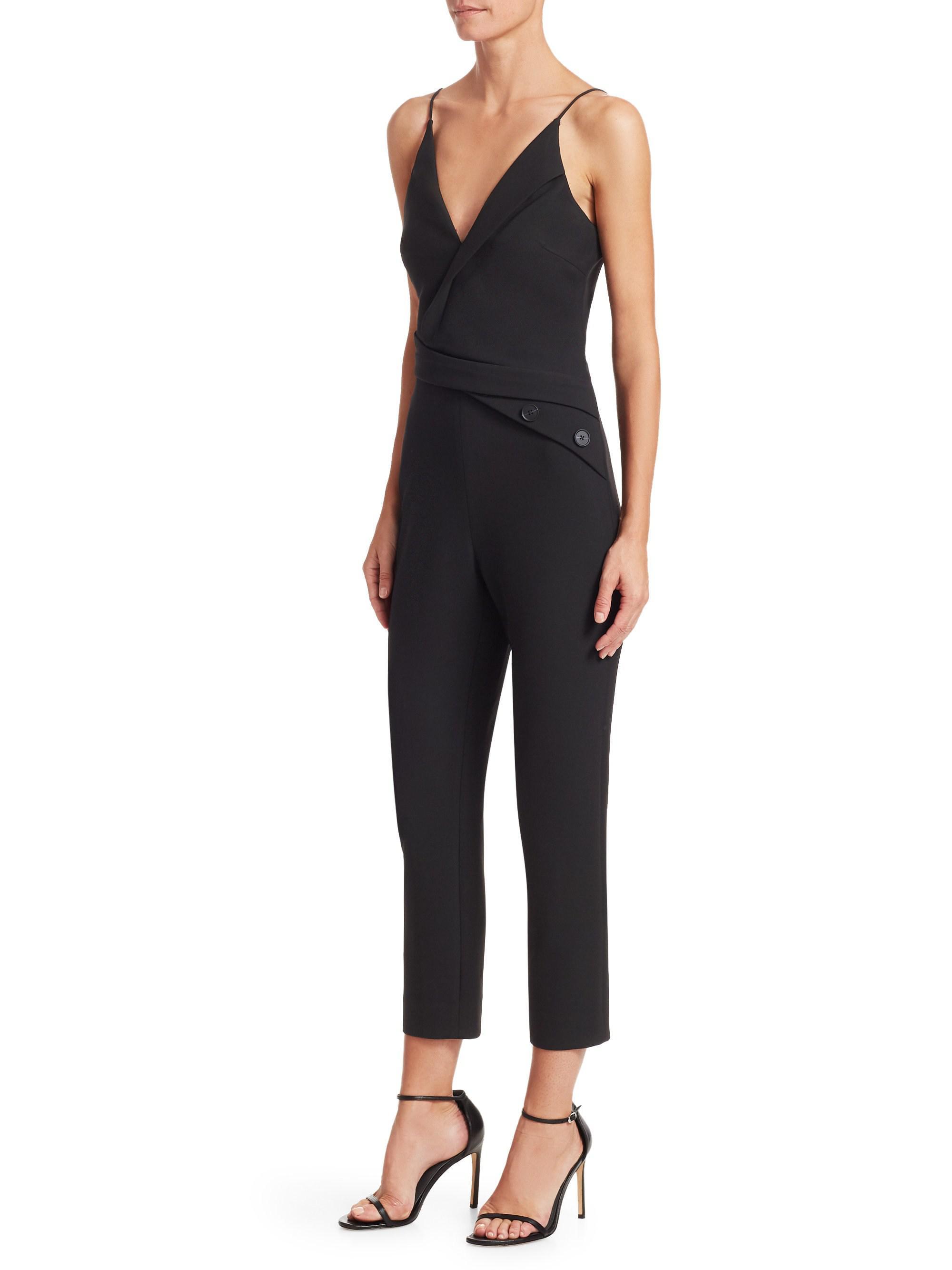 da5744fd1d7b Lyst - Cushnie Et Ochs Asymmetrical Jumpsuit in Black