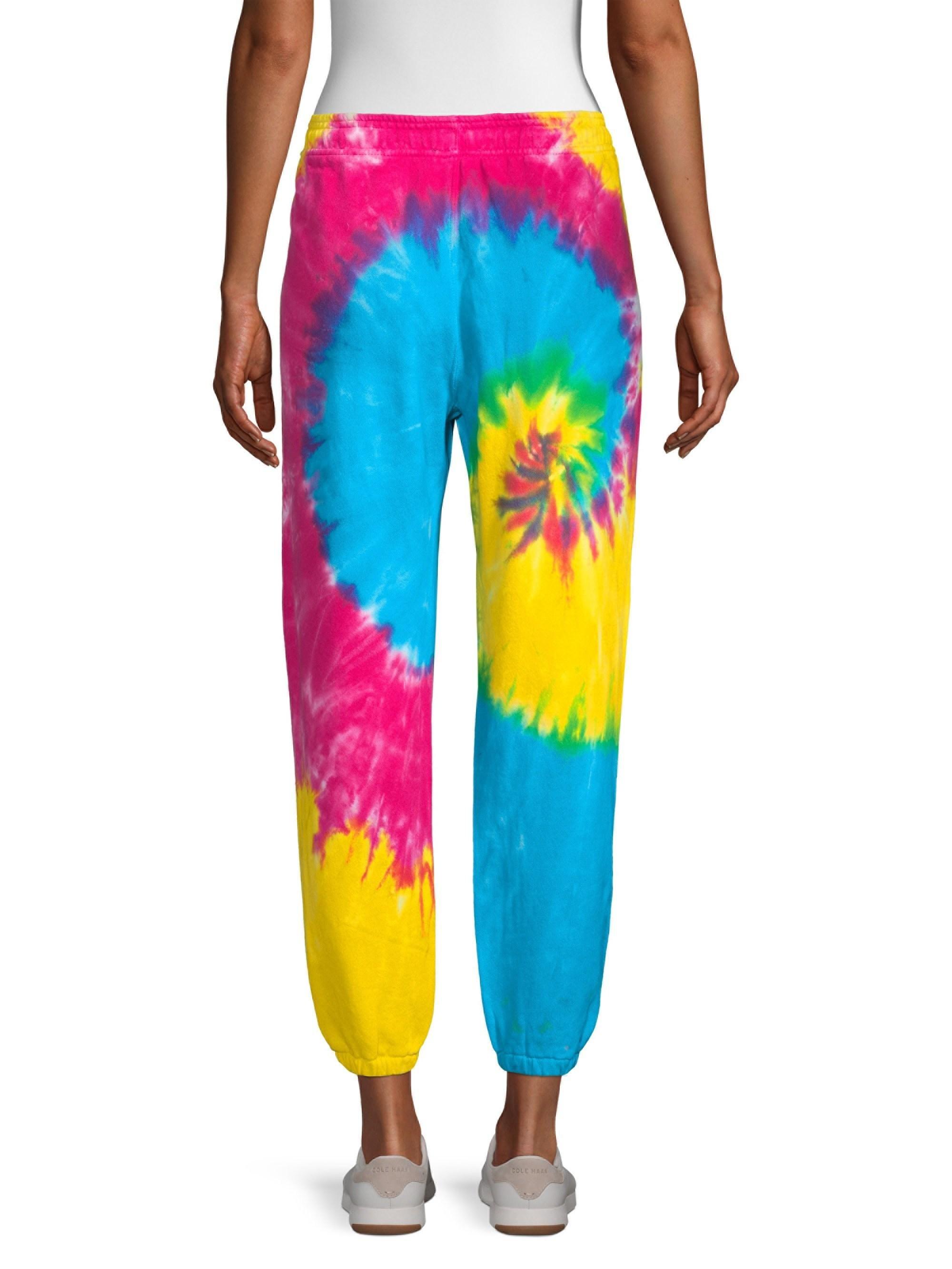 b427c203c834 Polo Ralph Lauren Women's Tie-dye Cotton Joggers - Pinwheel Tiedye ...