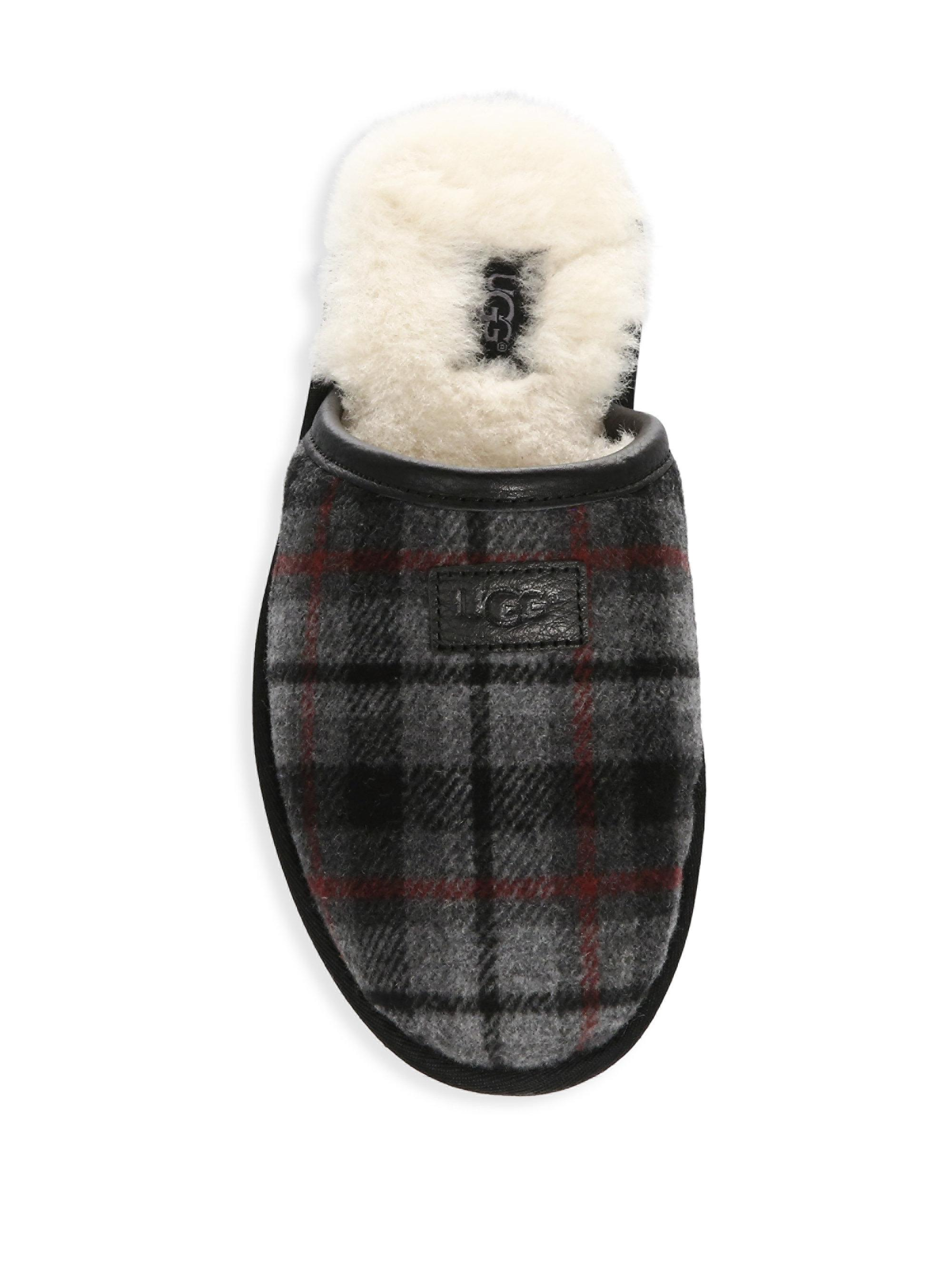 ae3519eb598a UGG Scuff Plaid Slippers in Red for Men - Lyst