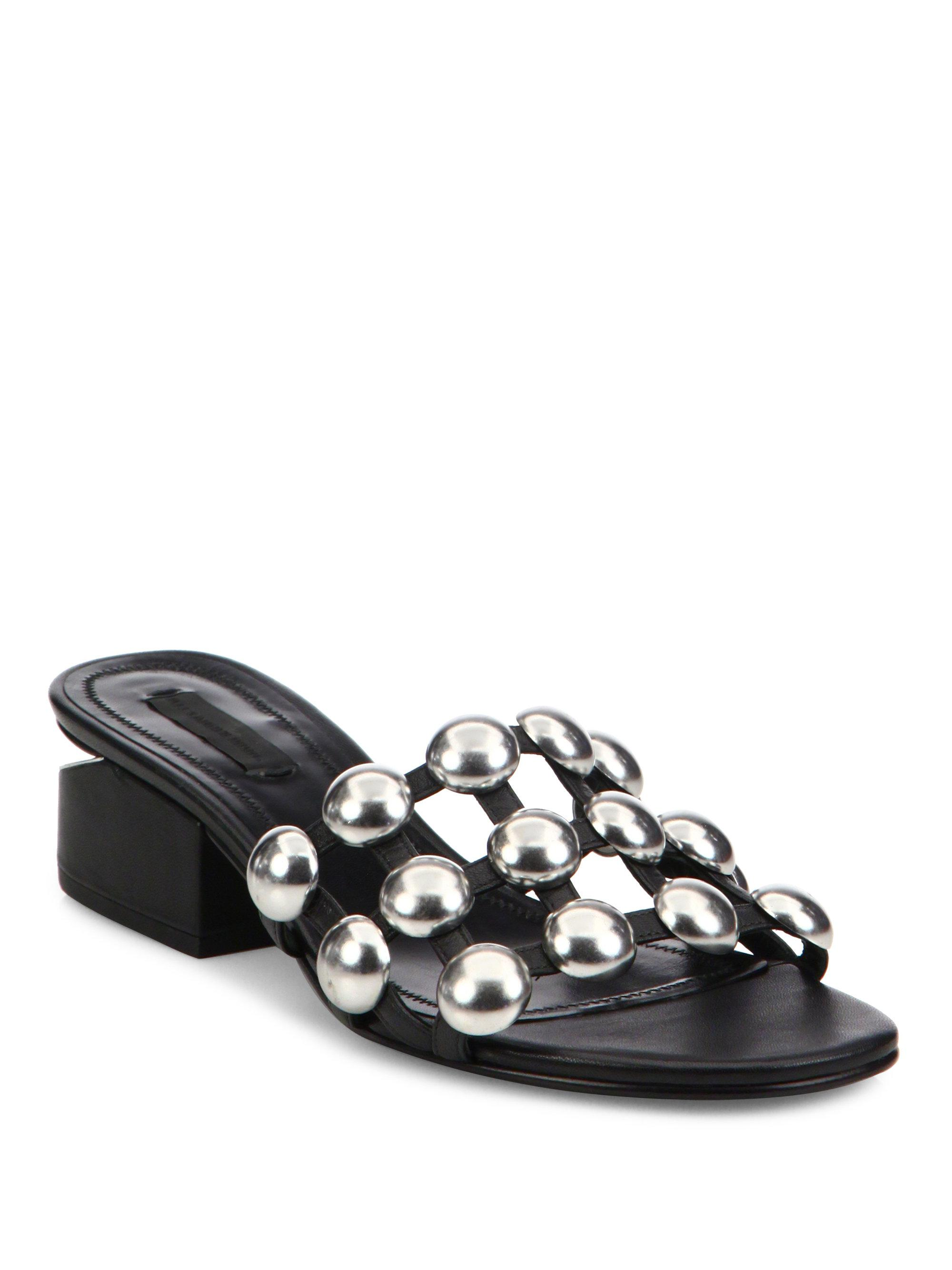 buy cheap pre order Alexander Wang Embossed Slide Sandals cheap geniue stockist countdown package free shipping under $60 YhH3t4R