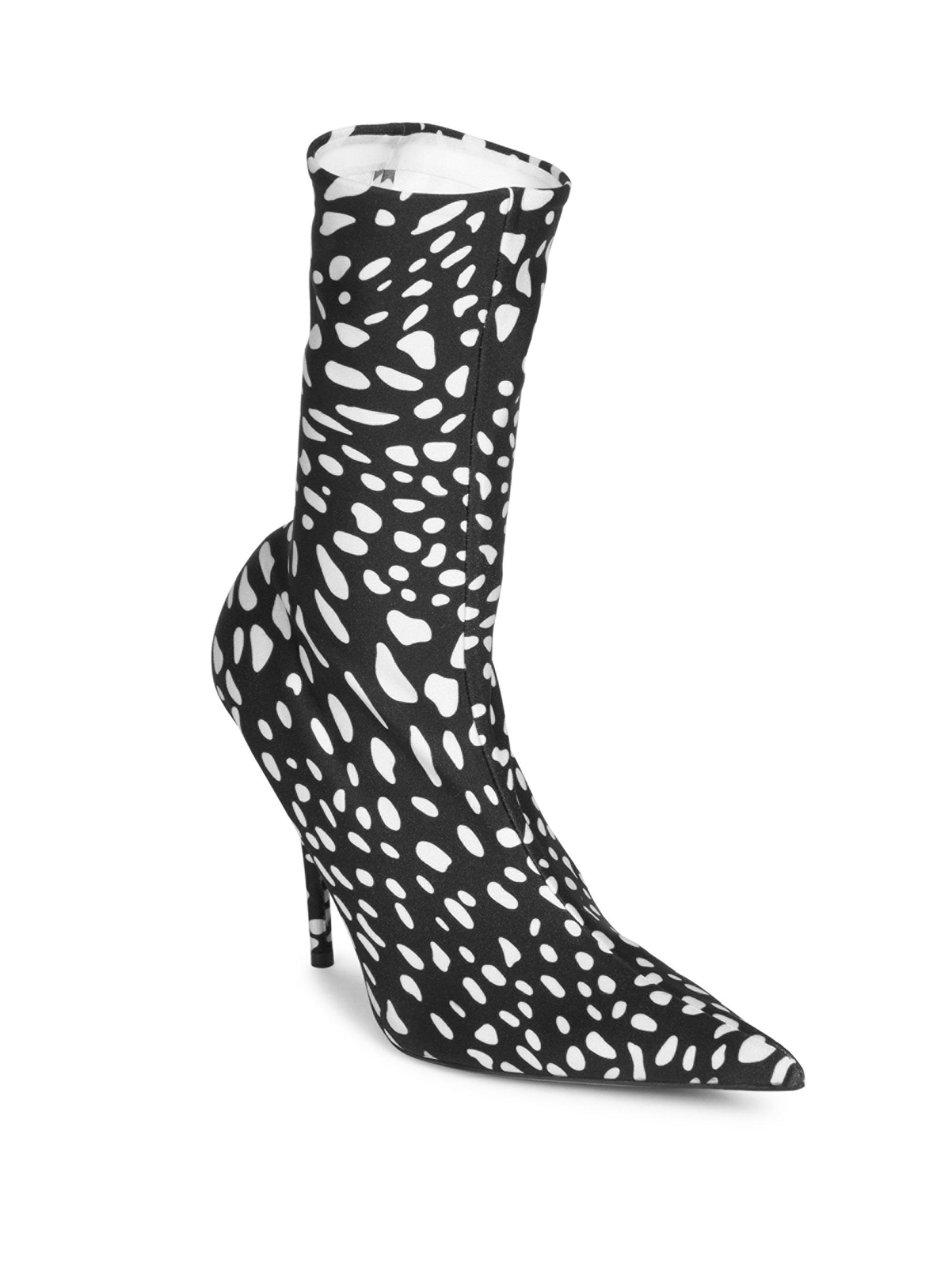 a79d3776ca7c Balenciaga animal print booties in black lyst jpg 2000x2667 Black leopard  print boots