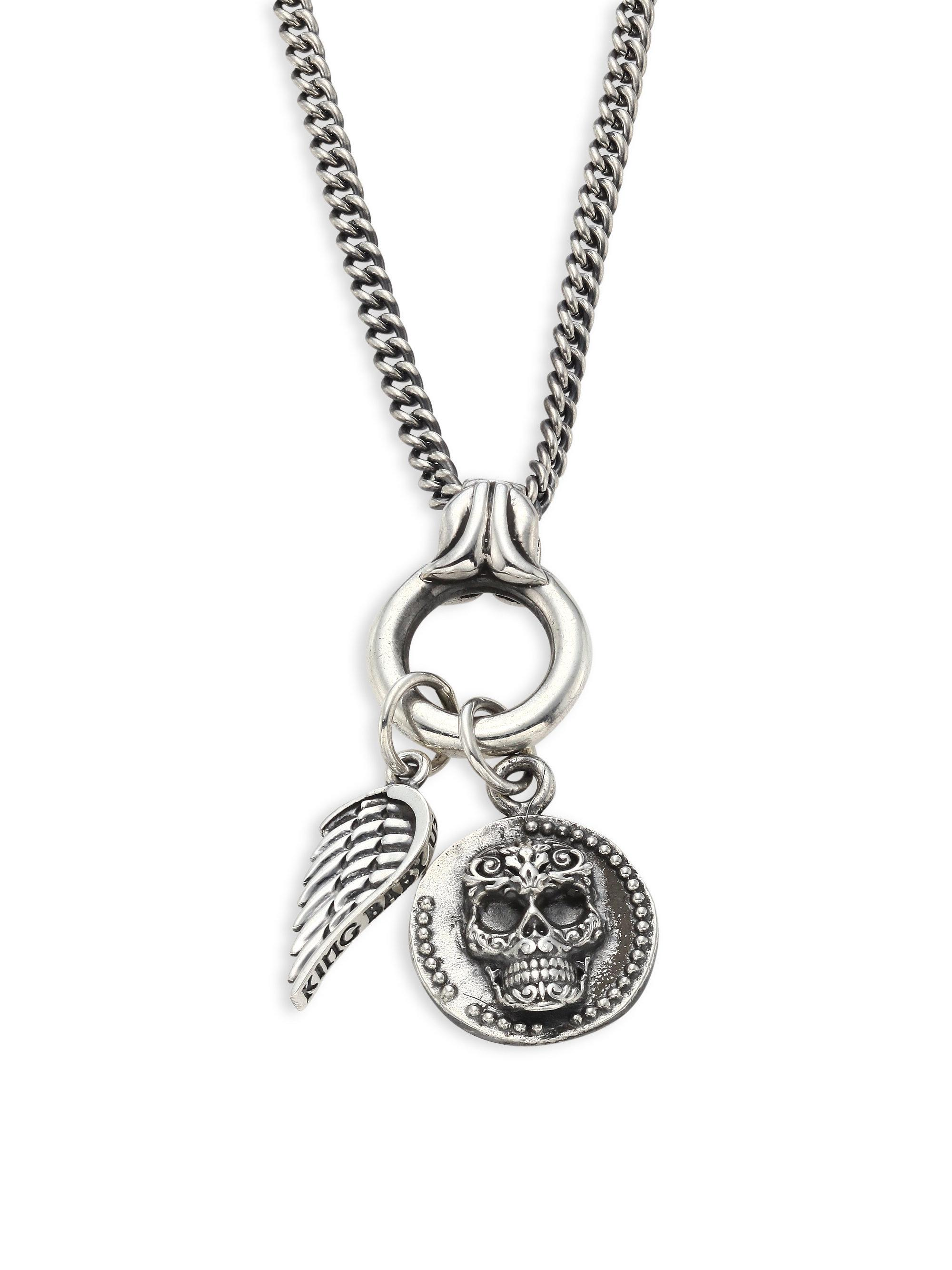 Lyst king baby studio baroque sterling silver baby skull for King baby jewelry sale